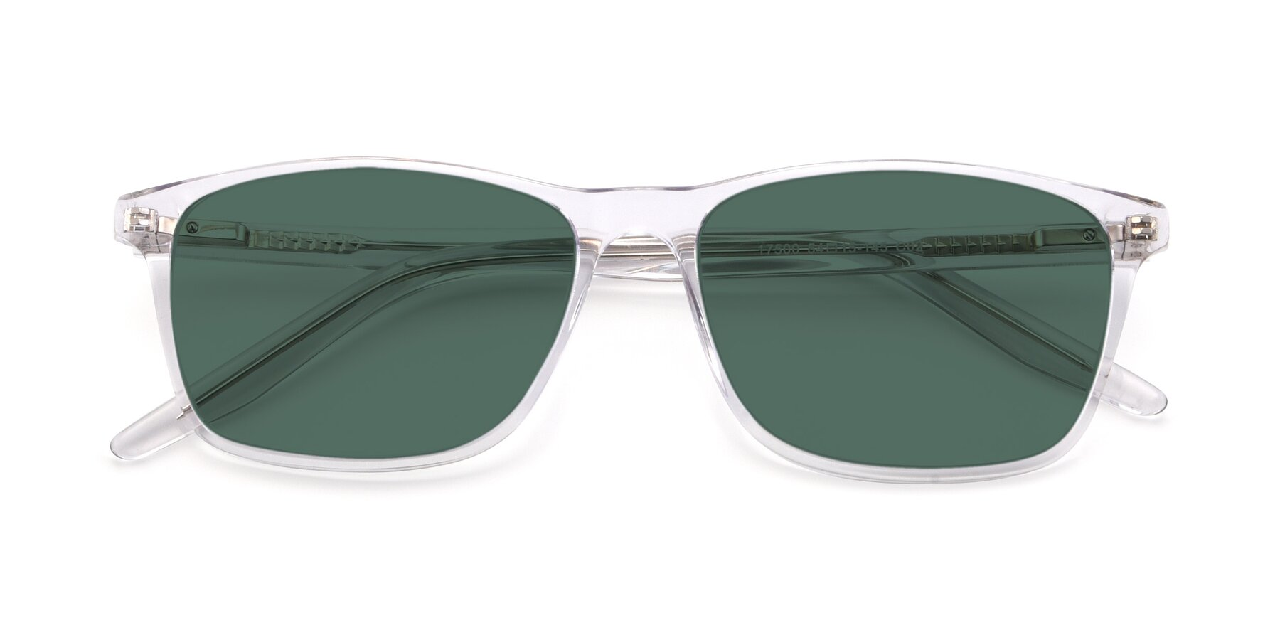 Folded Front of 17500 in Clear with Green Polarized Lenses