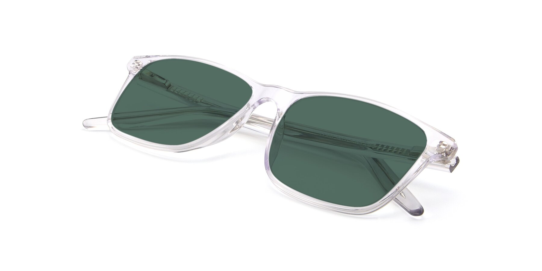 View of 17500 in Clear with Green Polarized Lenses