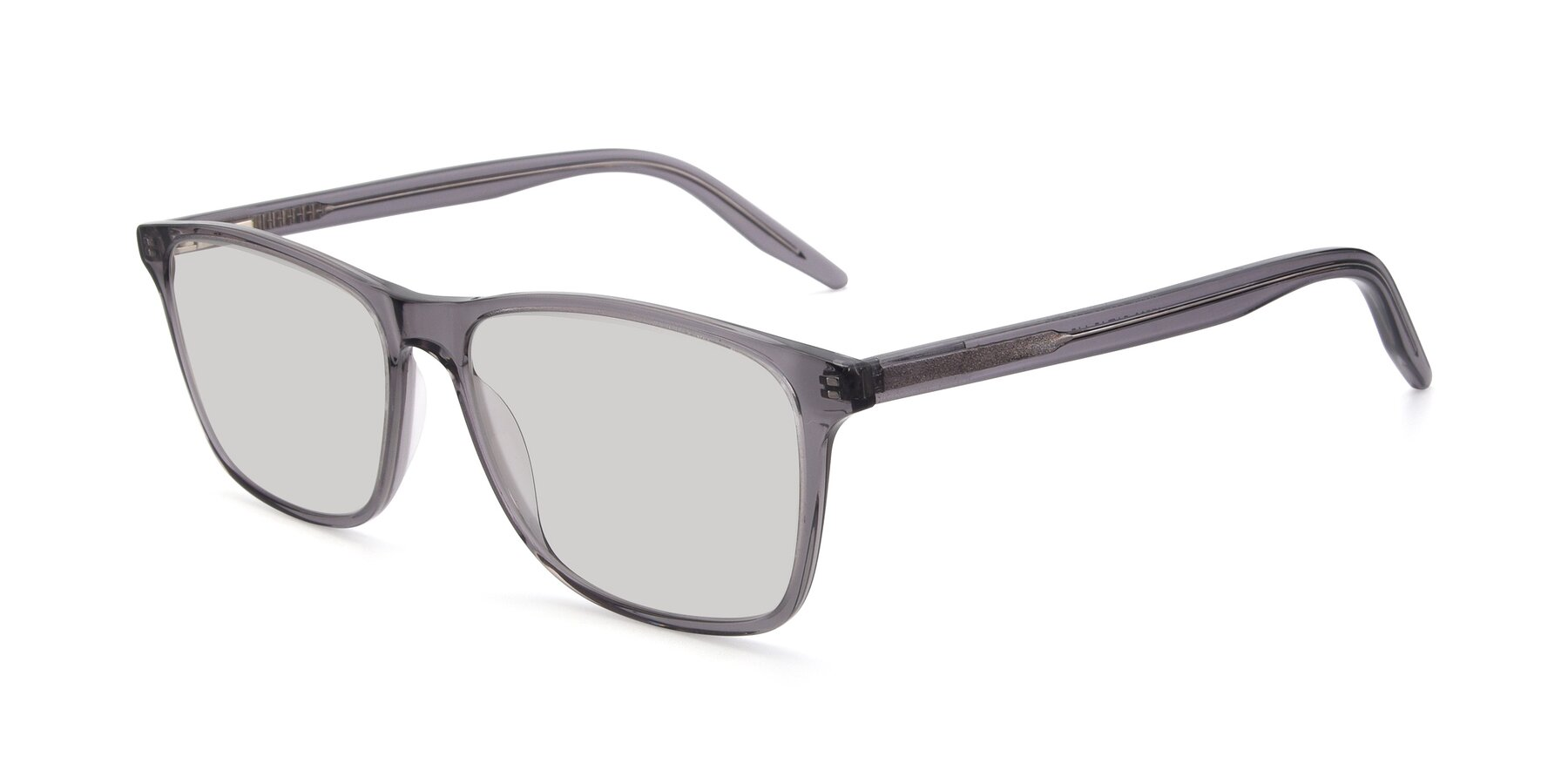 Angle of 17500 in Transparent Grey with Light Gray Tinted Lenses
