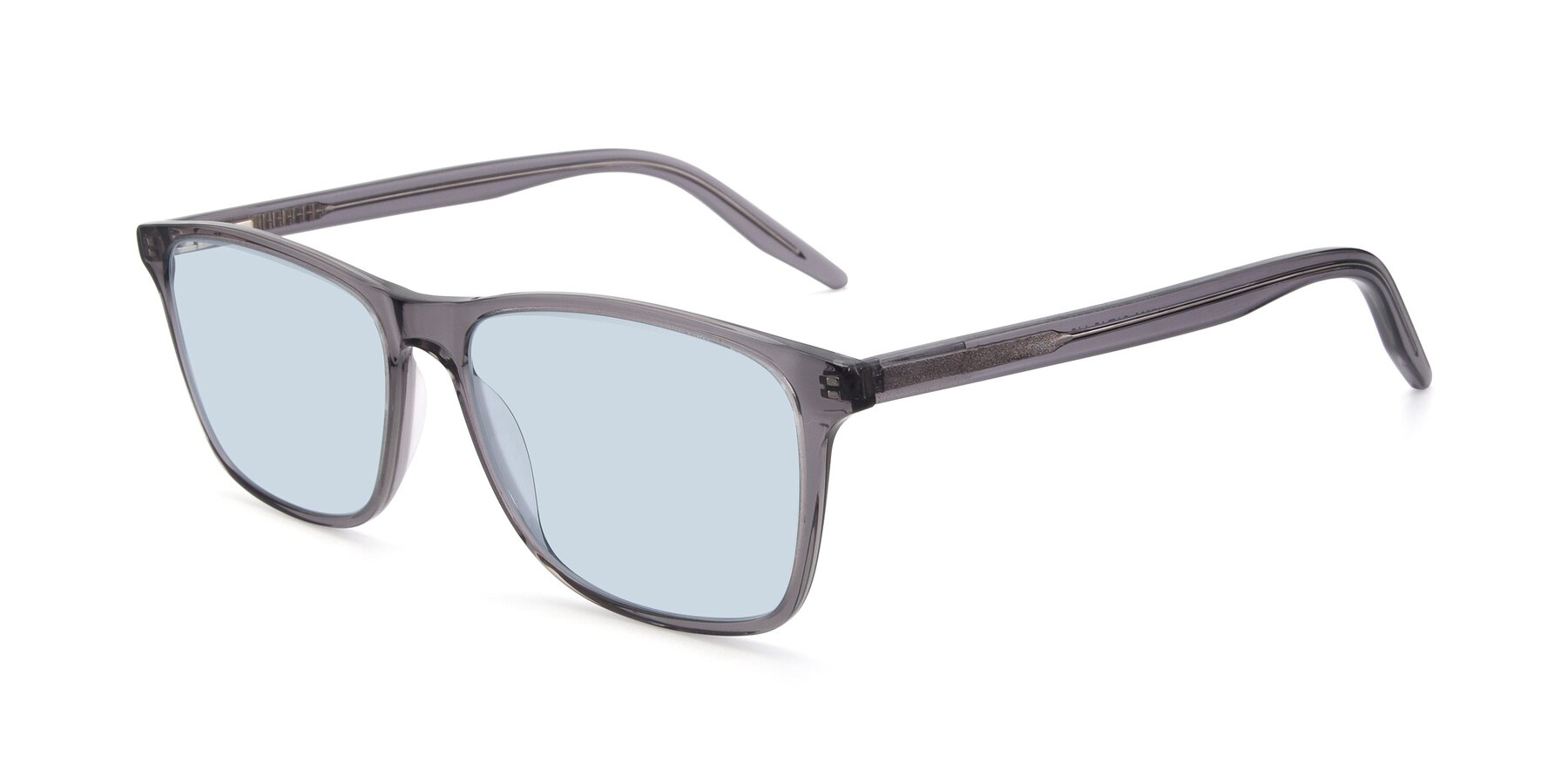 Angle of 17500 in Transparent Grey with Light Blue Tinted Lenses
