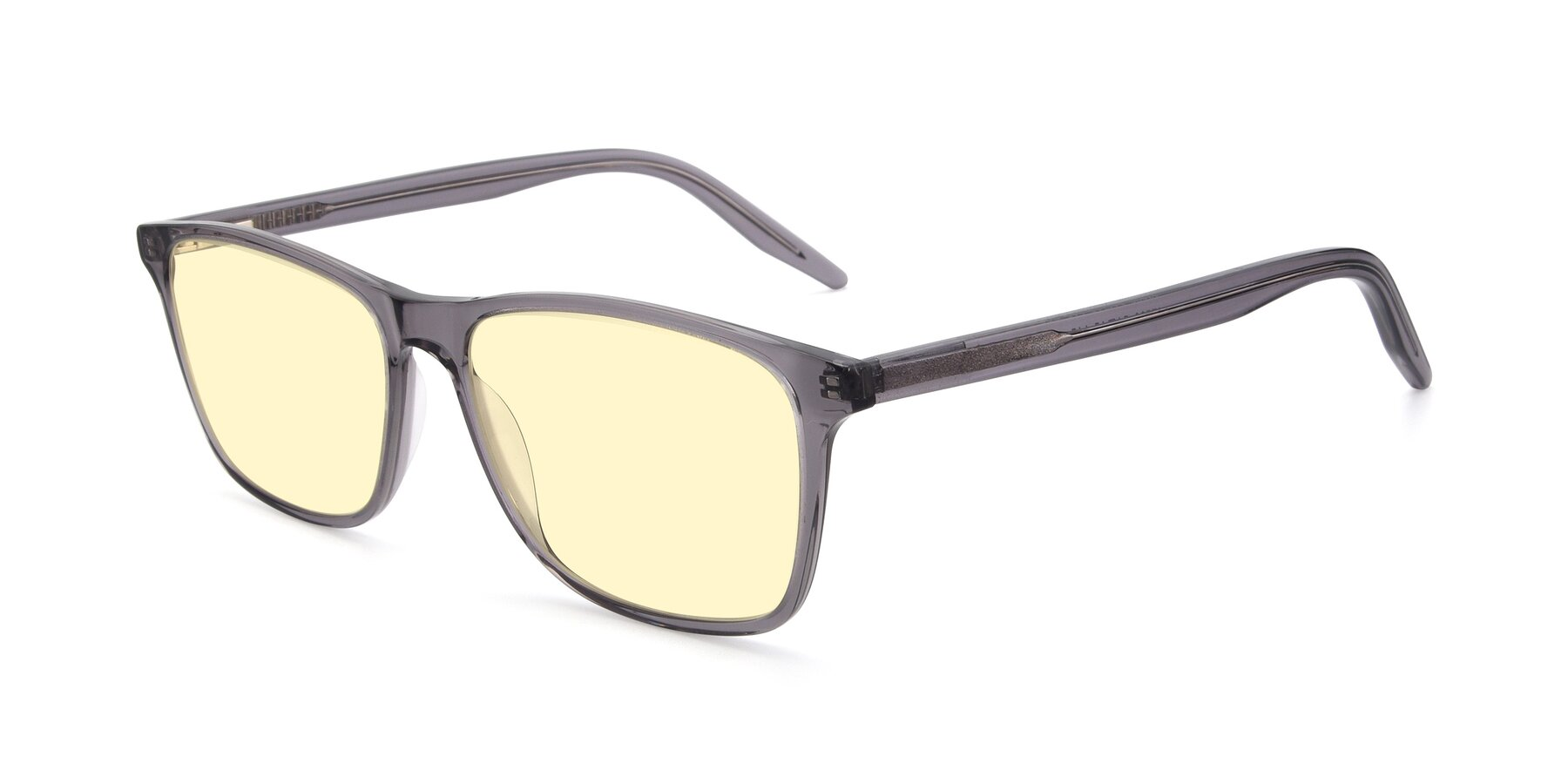 Angle of 17500 in Transparent Grey with Light Yellow Tinted Lenses