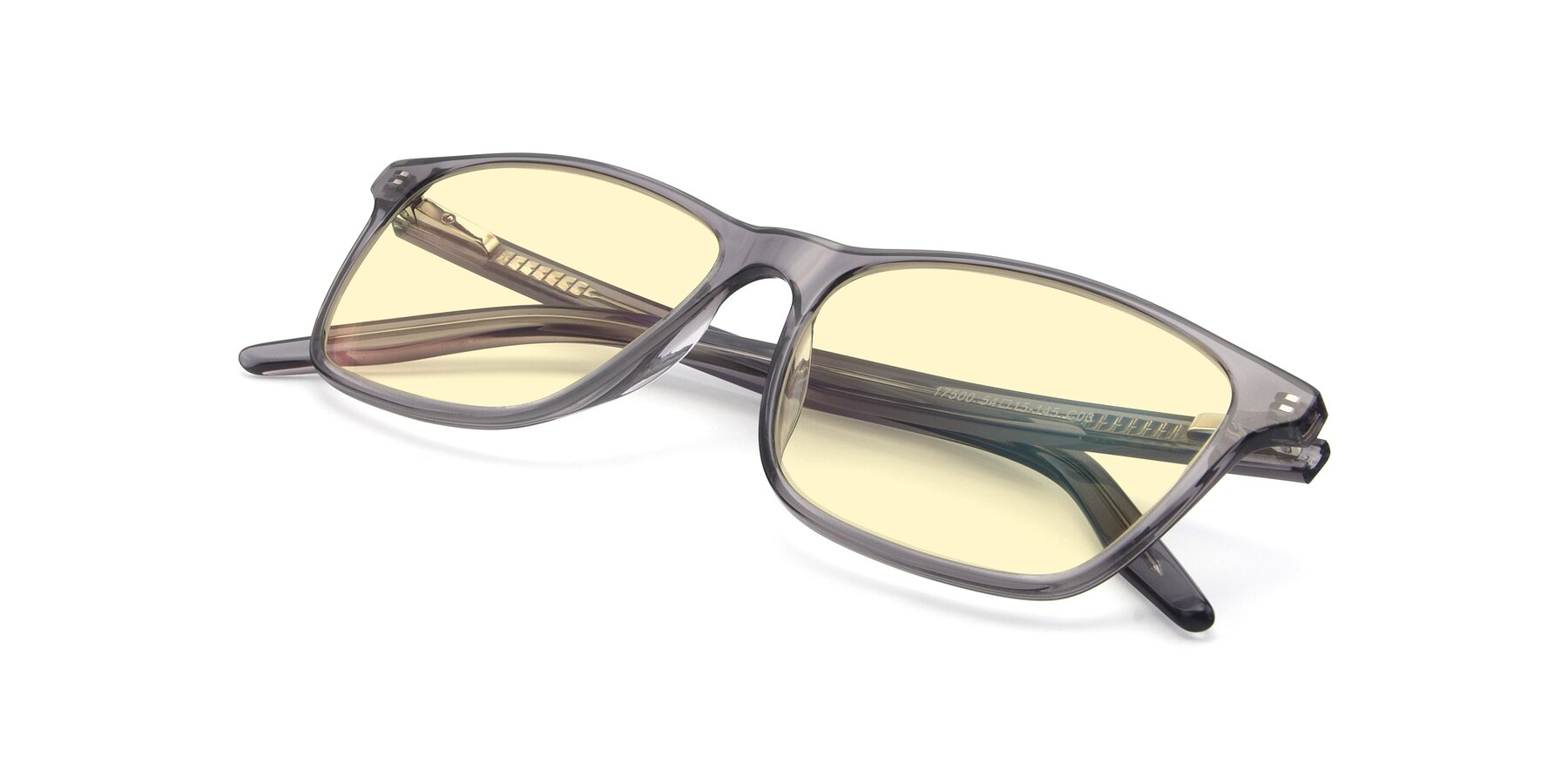 View of 17500 in Transparent Grey with Light Yellow Tinted Lenses