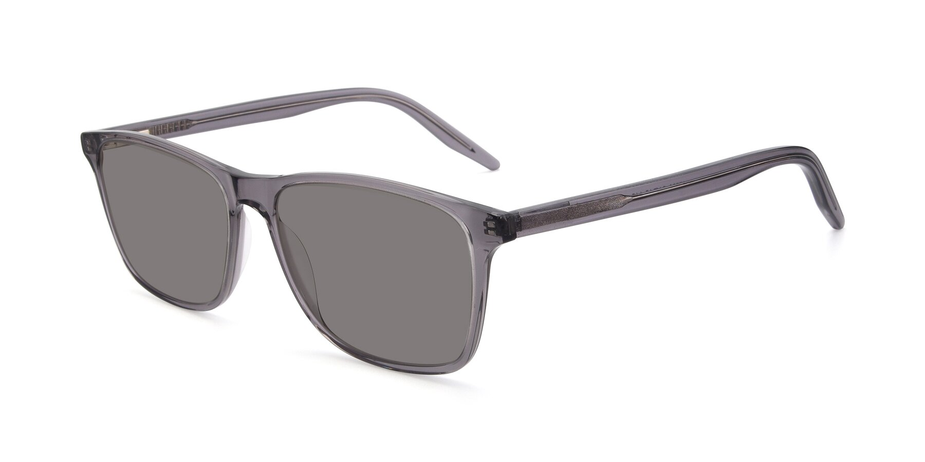 Angle of 17500 in Transparent Grey with Medium Gray Tinted Lenses
