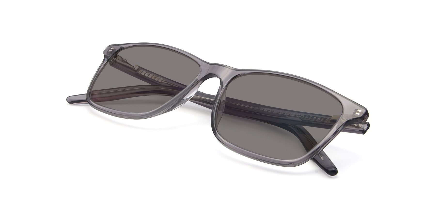 View of 17500 in Transparent Grey with Medium Gray Tinted Lenses