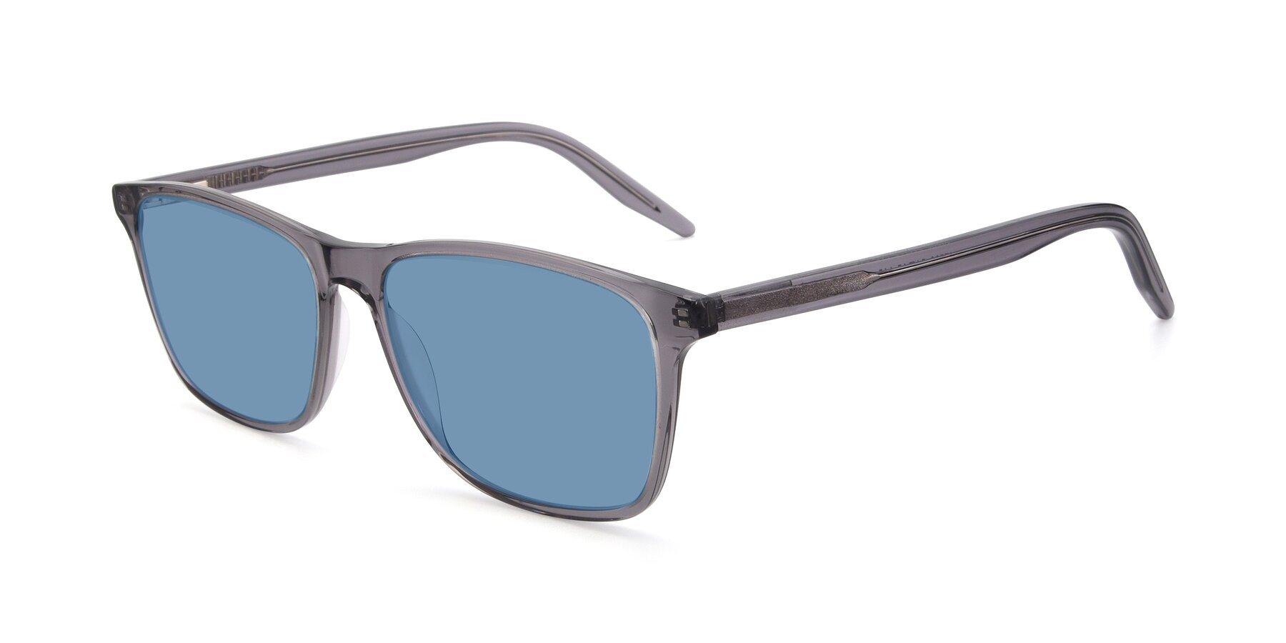 Angle of 17500 in Transparent Grey with Medium Blue Tinted Lenses
