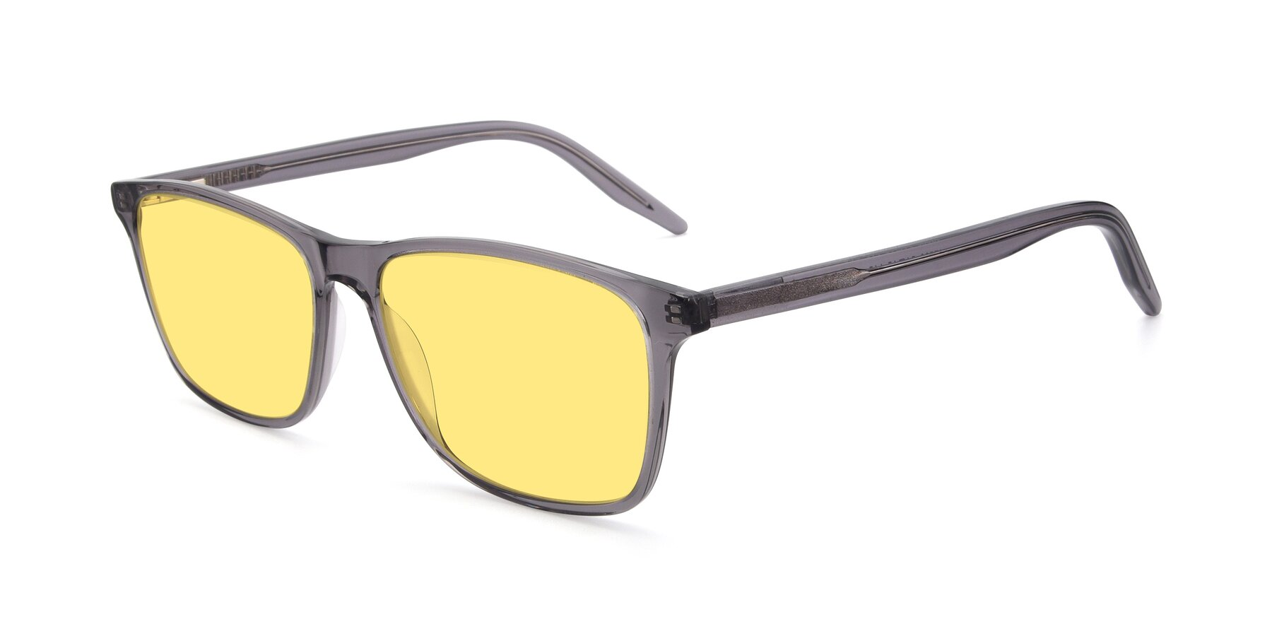 Angle of 17500 in Transparent Grey with Medium Yellow Tinted Lenses