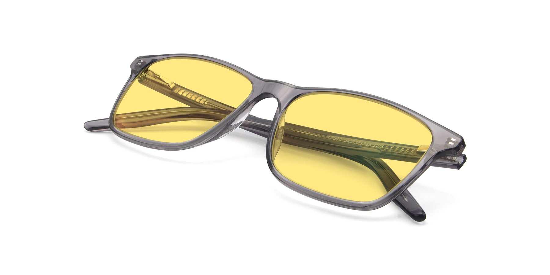 View of 17500 in Transparent Grey with Medium Yellow Tinted Lenses