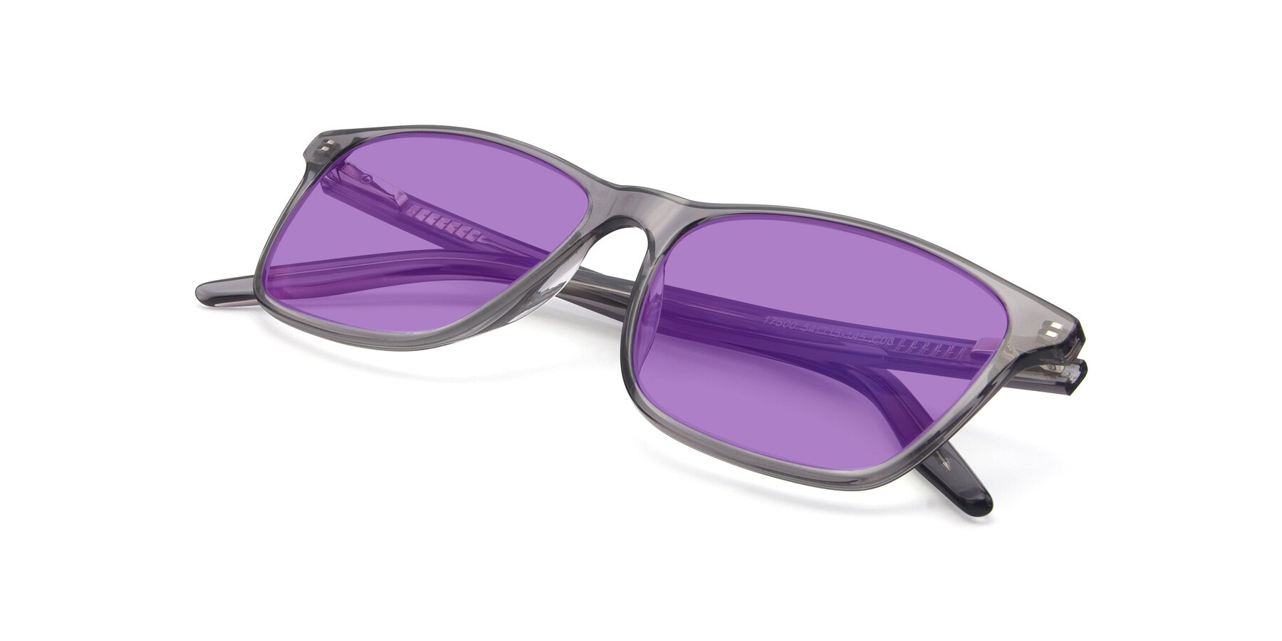 View of 17500 in Transparent Grey with Medium Purple Tinted Lenses