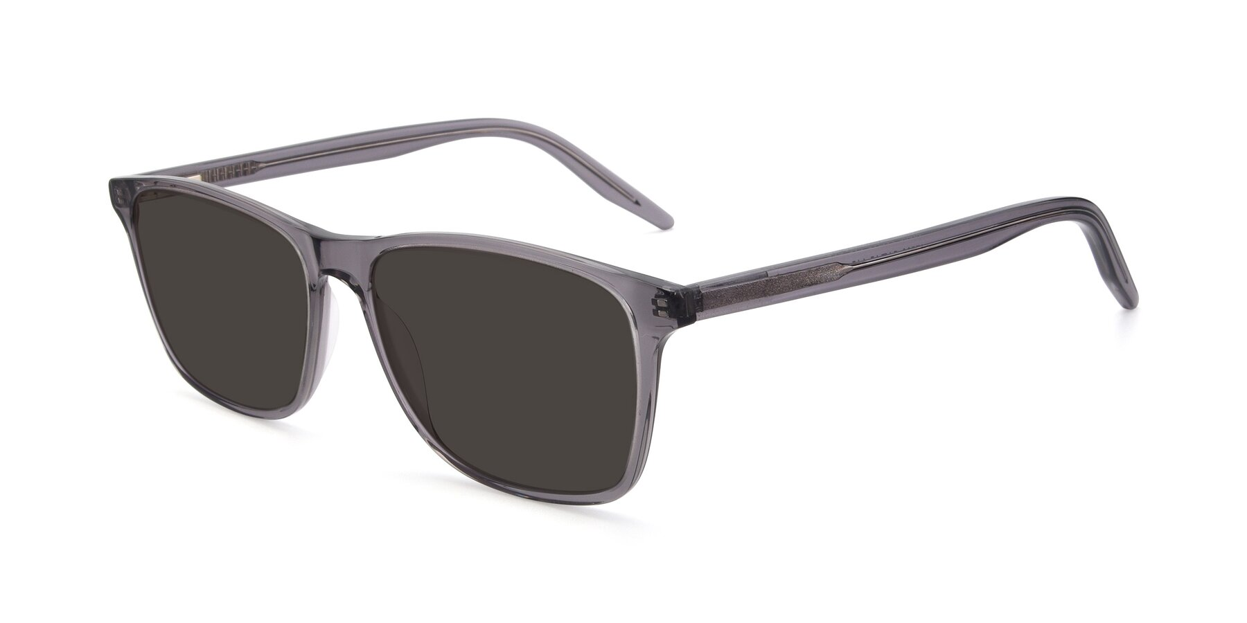 Angle of 17500 in Transparent Grey with Gray Tinted Lenses
