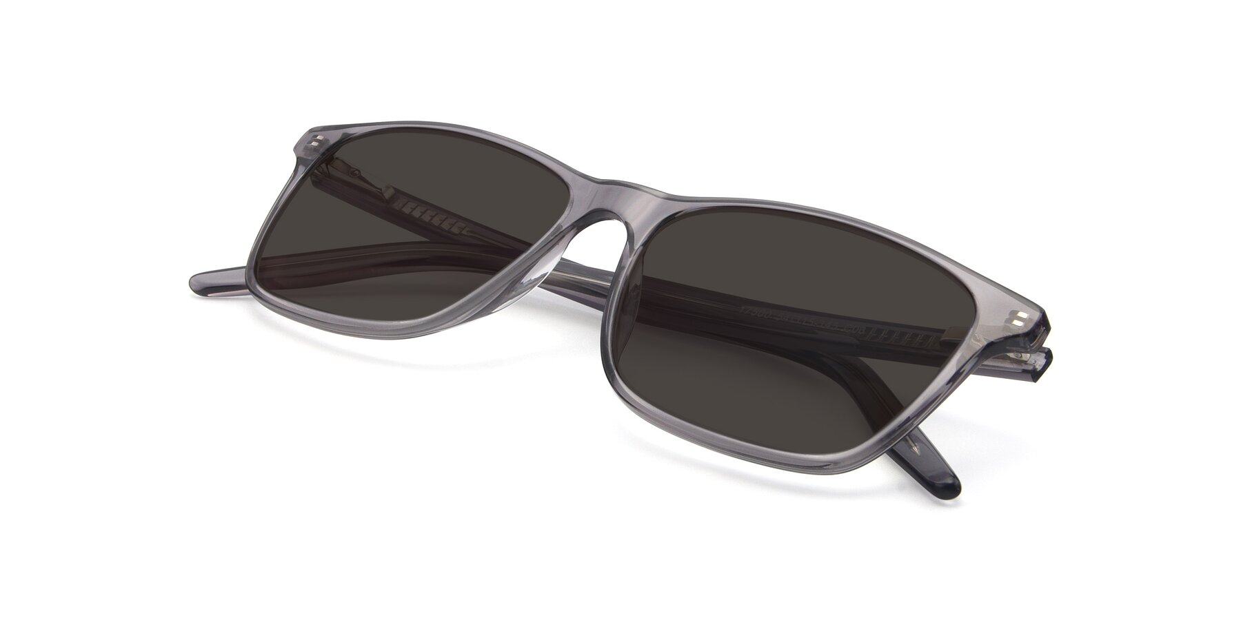 View of 17500 in Transparent Grey with Gray Tinted Lenses