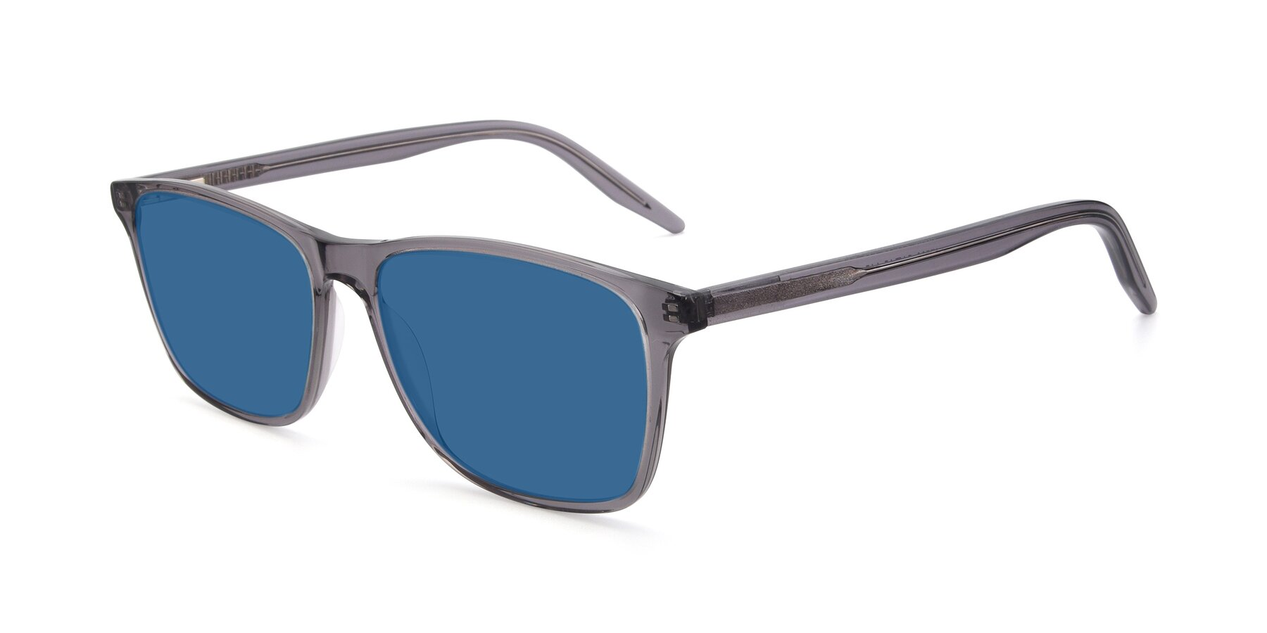 Angle of 17500 in Transparent Grey with Blue Tinted Lenses