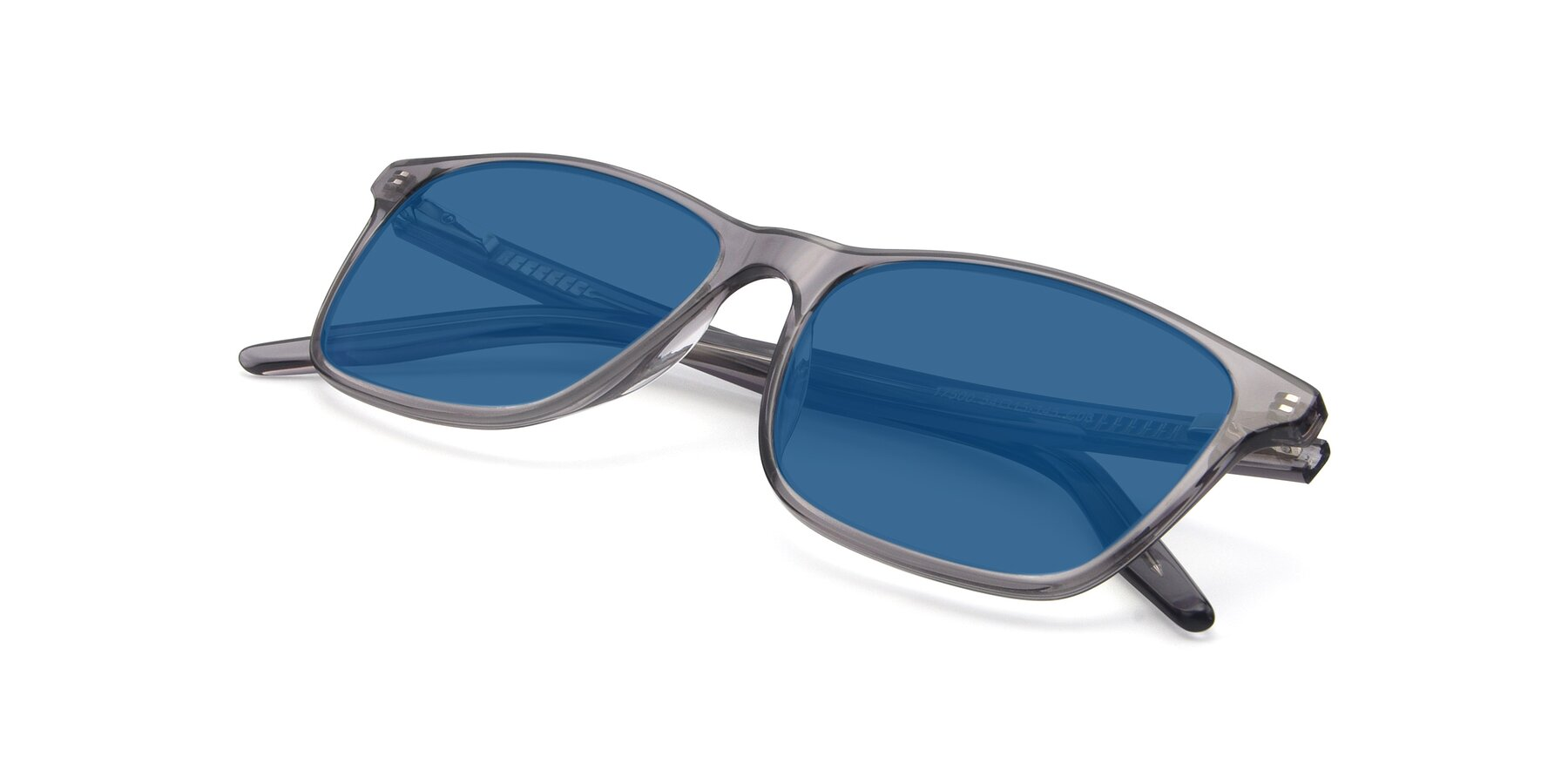 View of 17500 in Transparent Grey with Blue Tinted Lenses