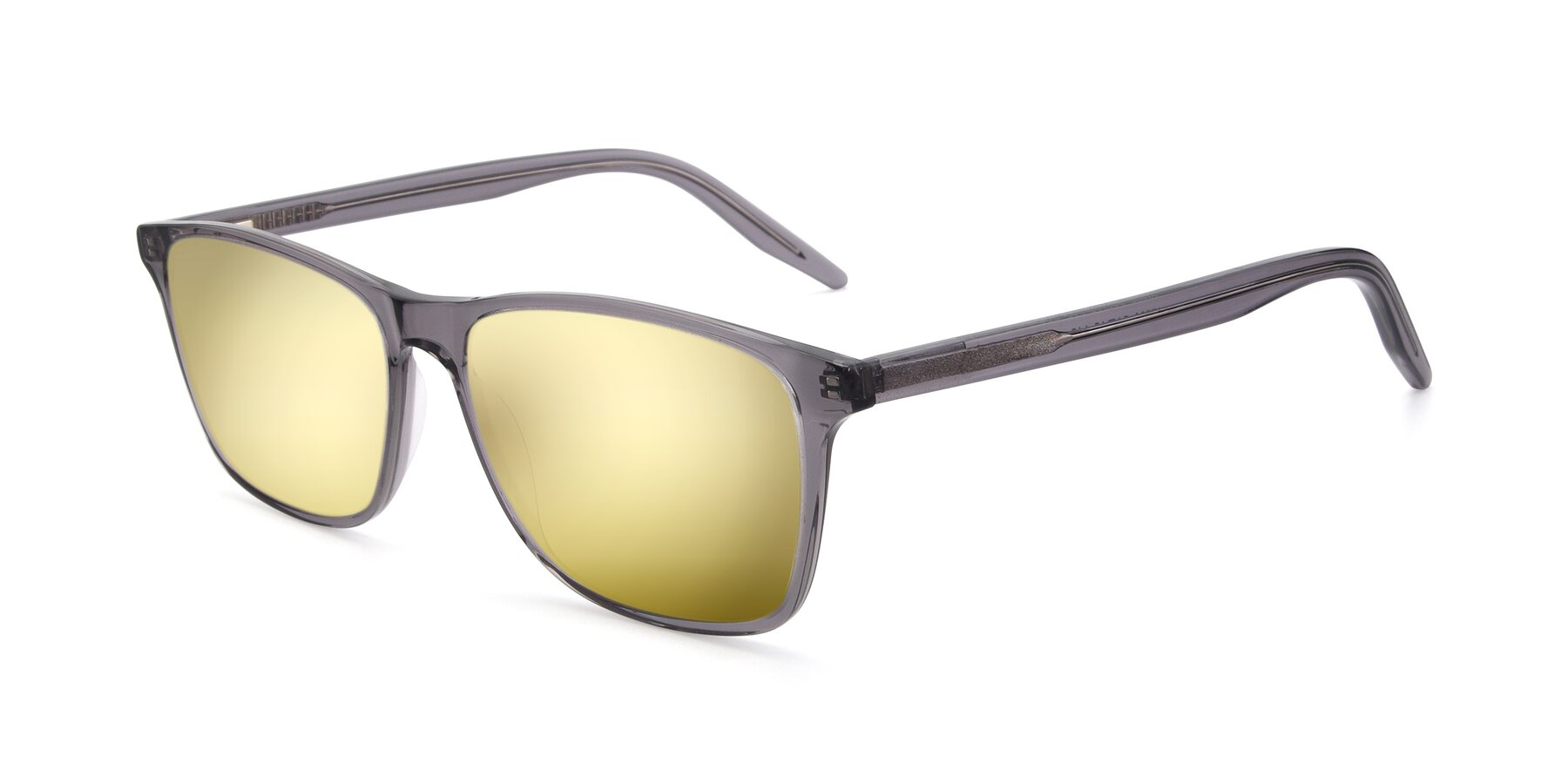 Angle of 17500 in Transparent Grey with Gold Mirrored Lenses