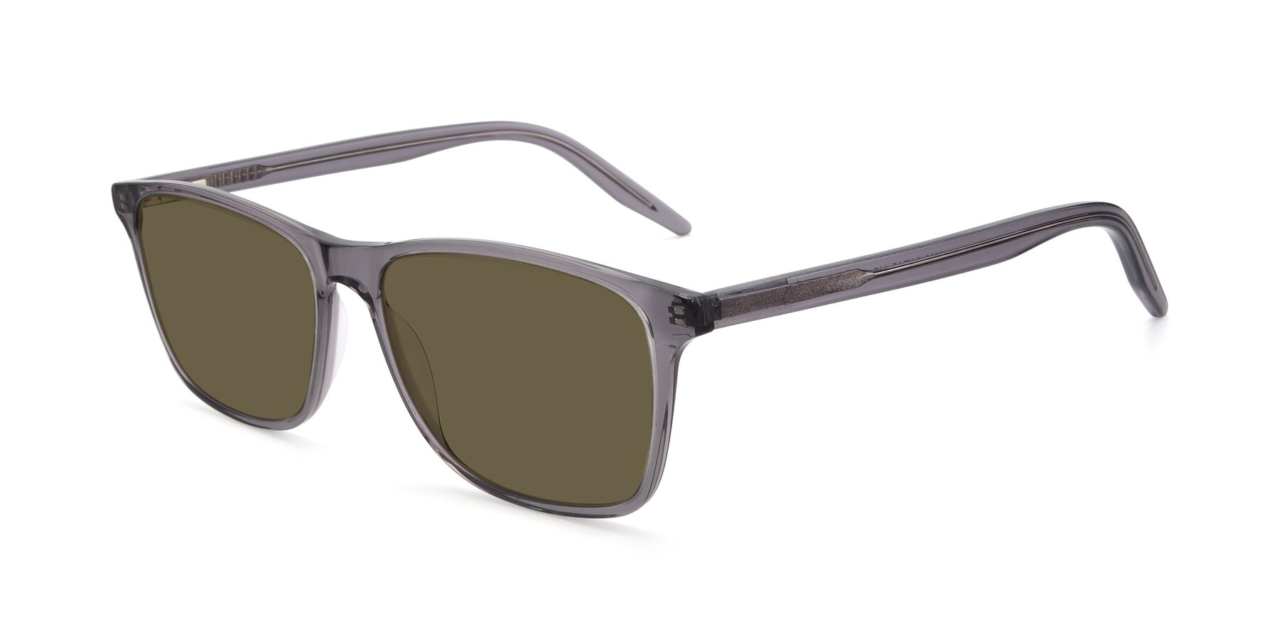 Angle of 17500 in Transparent Grey with Brown Polarized Lenses