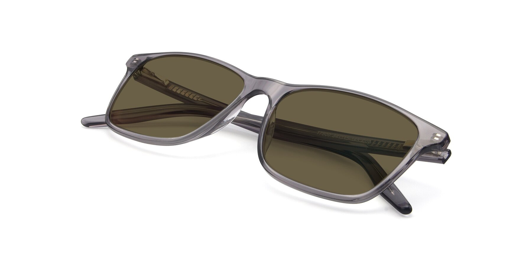 View of 17500 in Transparent Grey with Brown Polarized Lenses