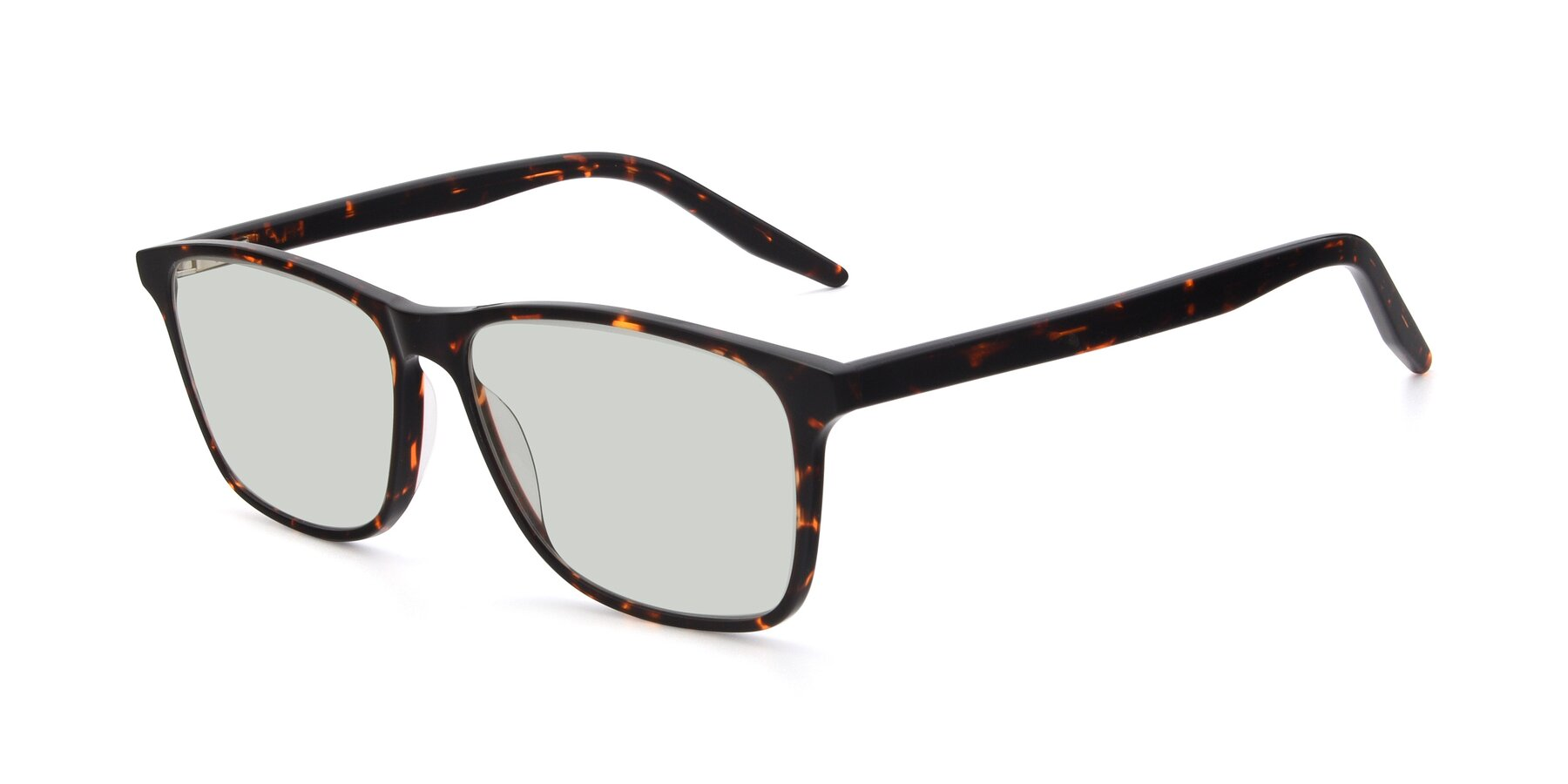 Angle of 17500 in Tortoise with Light Green Tinted Lenses