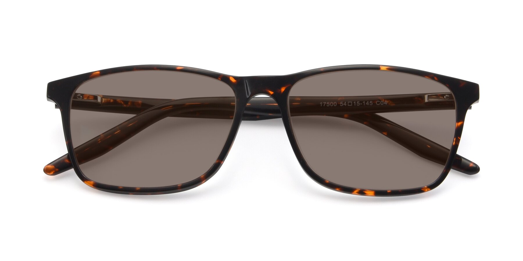 Folded Front of 17500 in Tortoise with Medium Brown Tinted Lenses