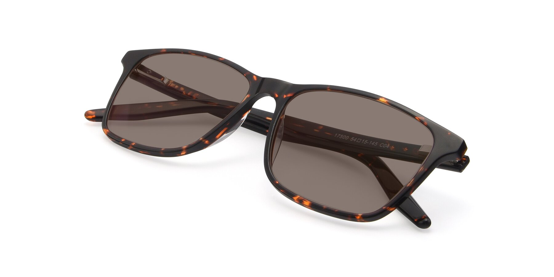 View of 17500 in Tortoise with Medium Brown Tinted Lenses