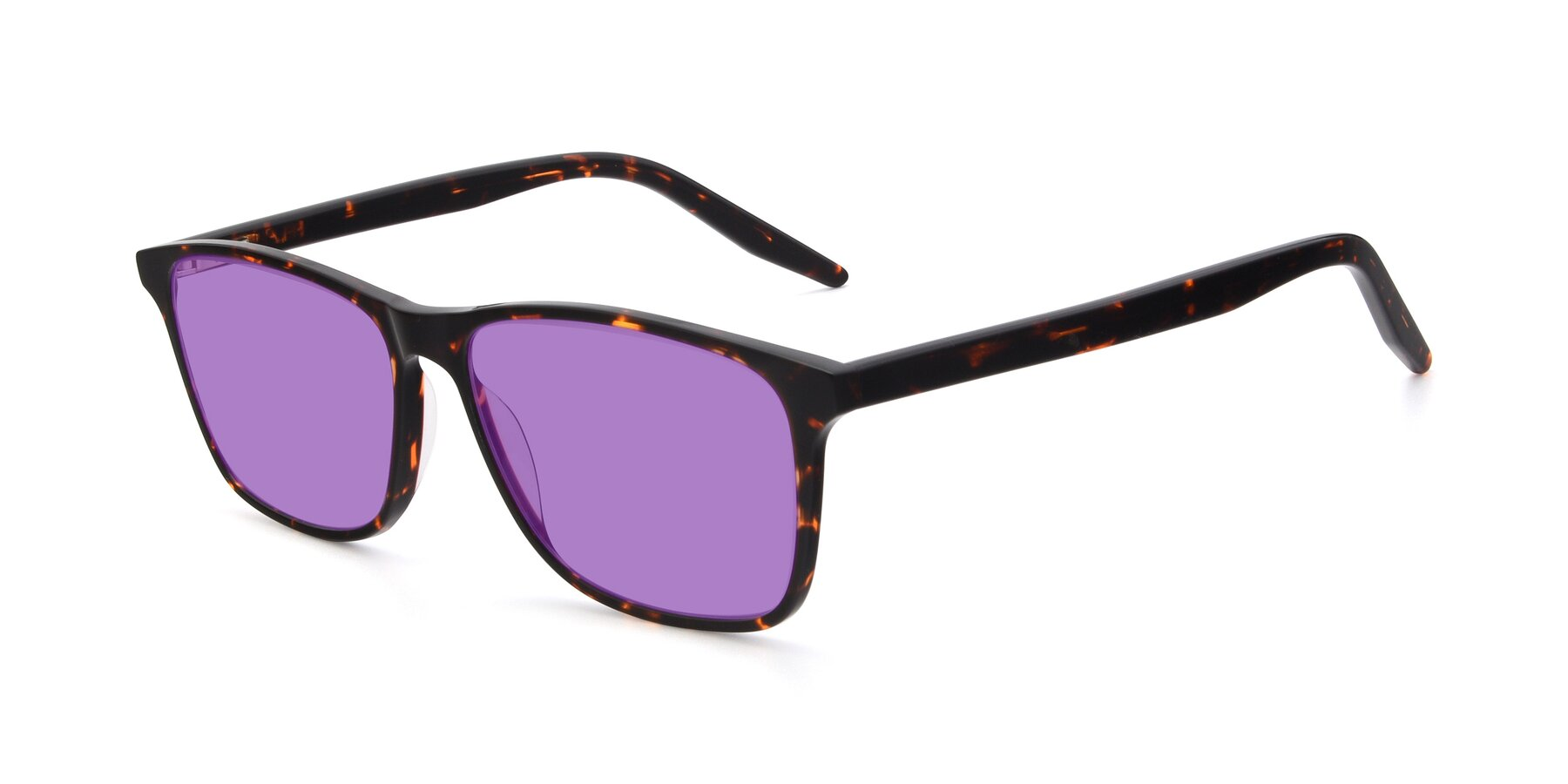 Angle of 17500 in Tortoise with Medium Purple Tinted Lenses