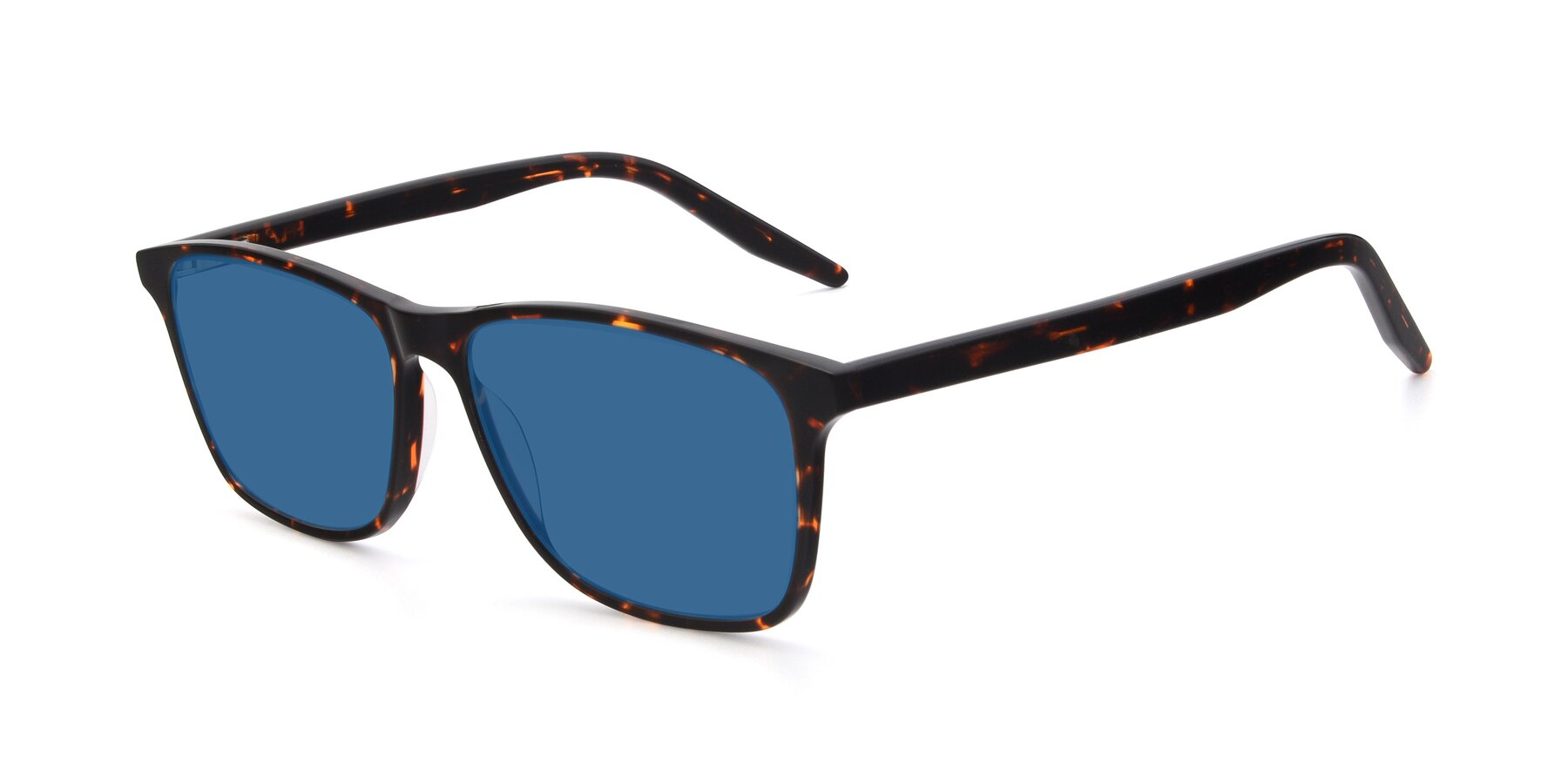 Angle of 17500 in Tortoise with Blue Tinted Lenses