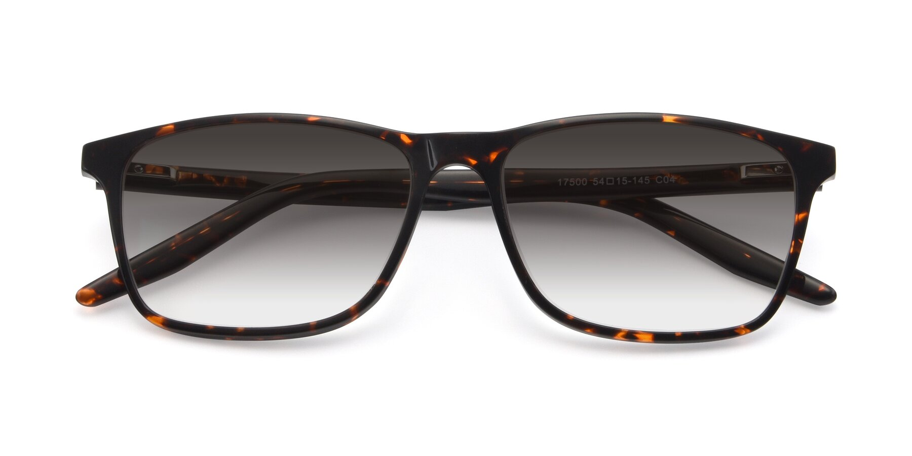 Folded Front of 17500 in Tortoise with Gray Gradient Lenses