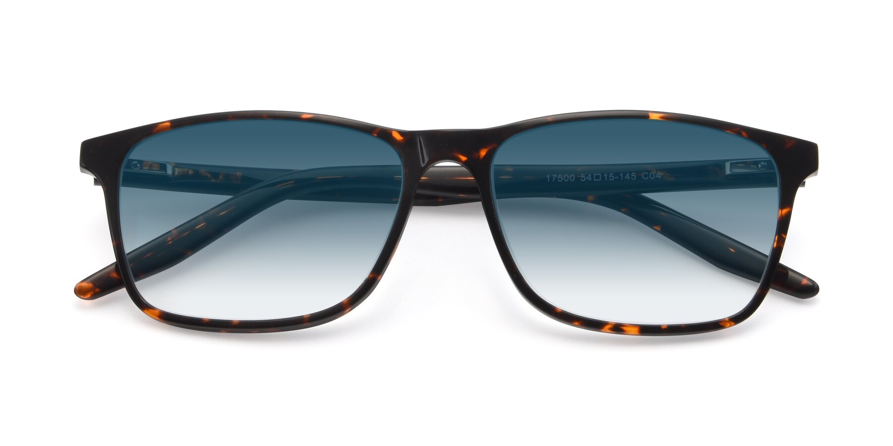 Folded Front of 17500 in Tortoise with Blue Gradient Lenses