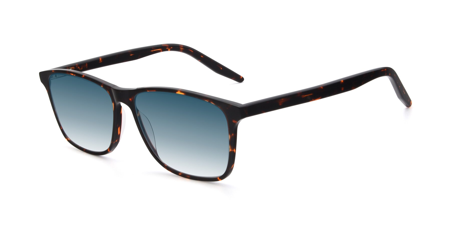 Angle of 17500 in Tortoise with Blue Gradient Lenses