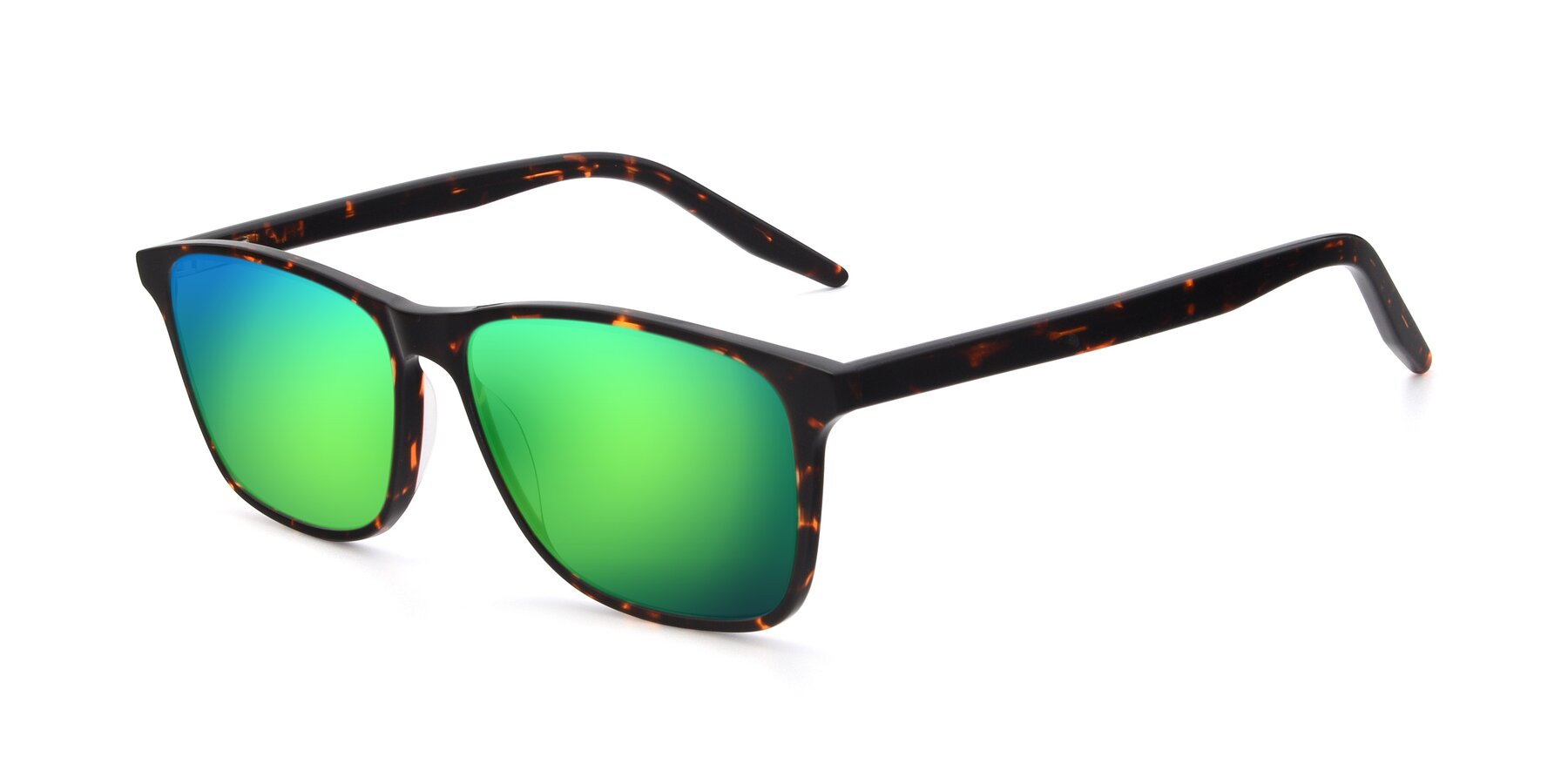 Angle of 17500 in Tortoise with Green Mirrored Lenses