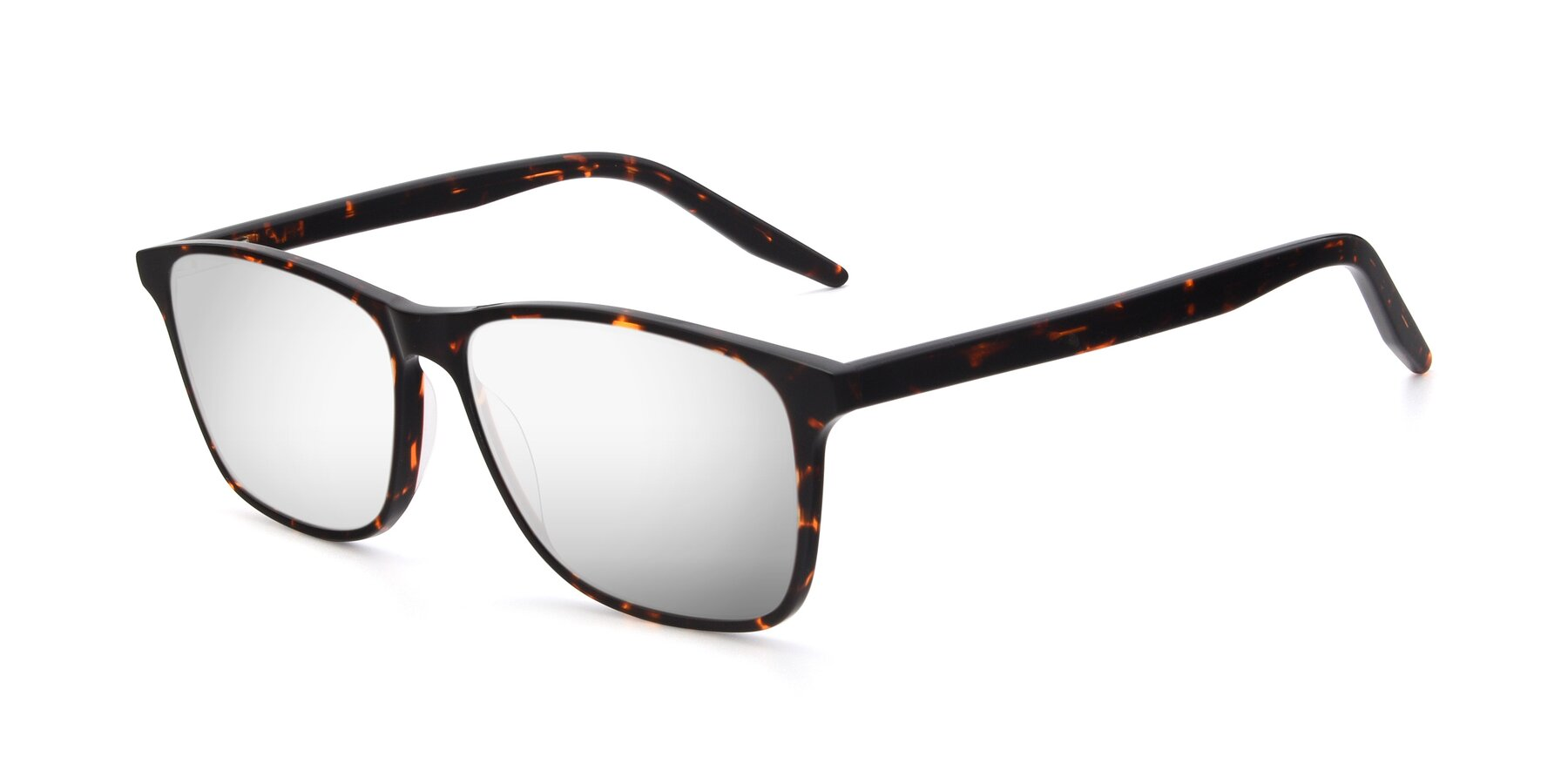 Angle of 17500 in Tortoise with Silver Mirrored Lenses