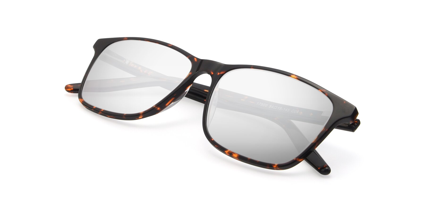 View of 17500 in Tortoise with Silver Mirrored Lenses