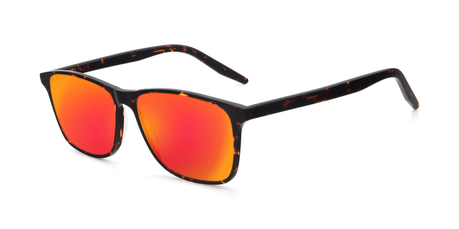 Angle of 17500 in Tortoise with Red Gold Mirrored Lenses