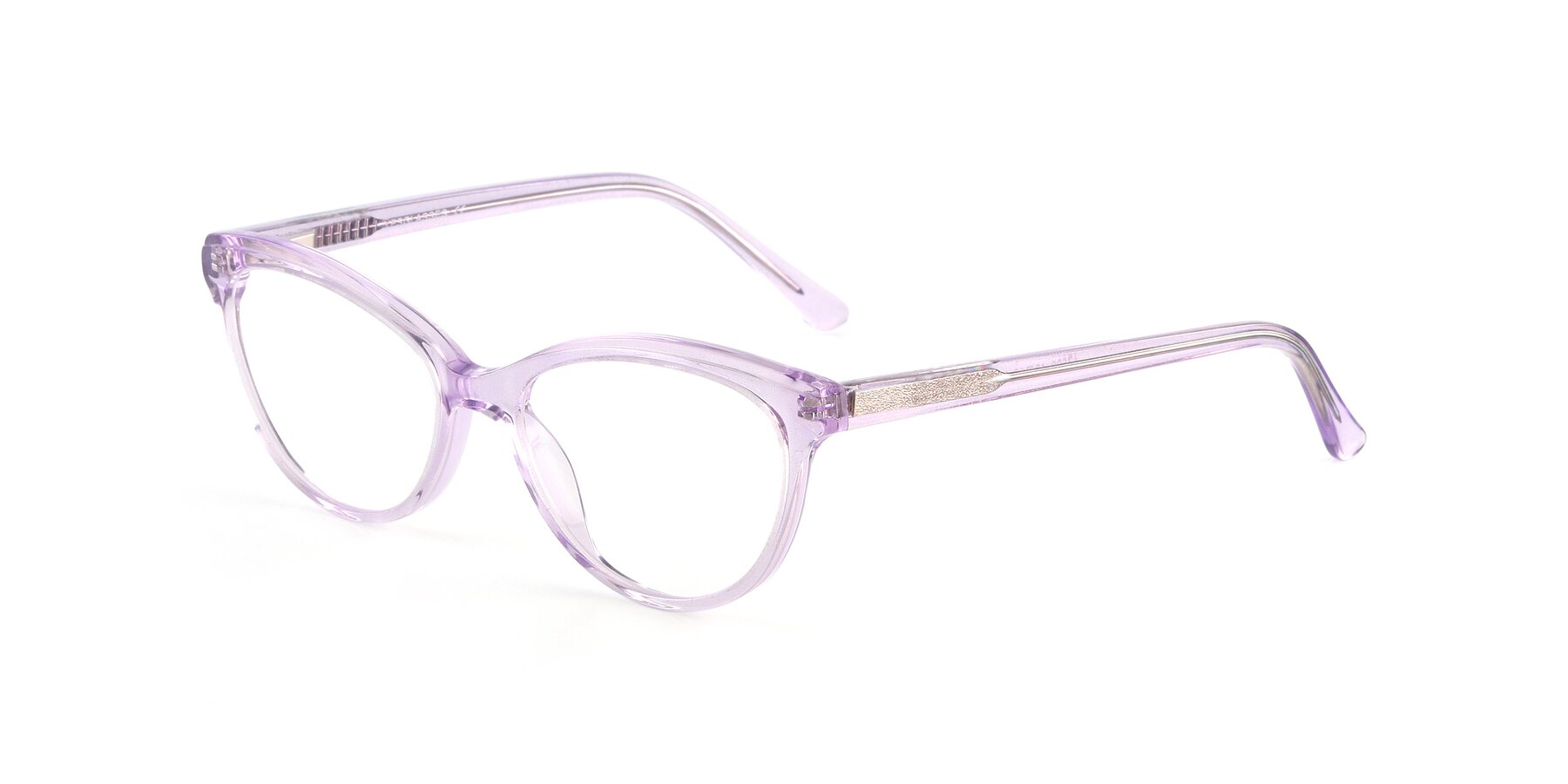 Angle of 17509 in Transparent Purple with Clear Eyeglass Lenses