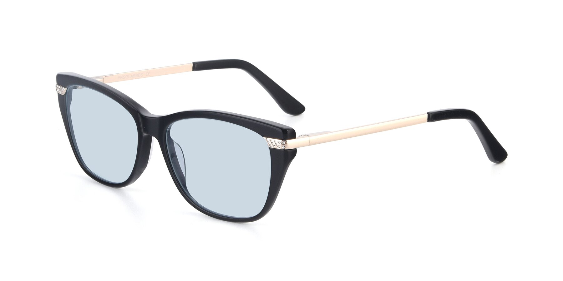 Angle of 17515 in Black with Light Blue Tinted Lenses