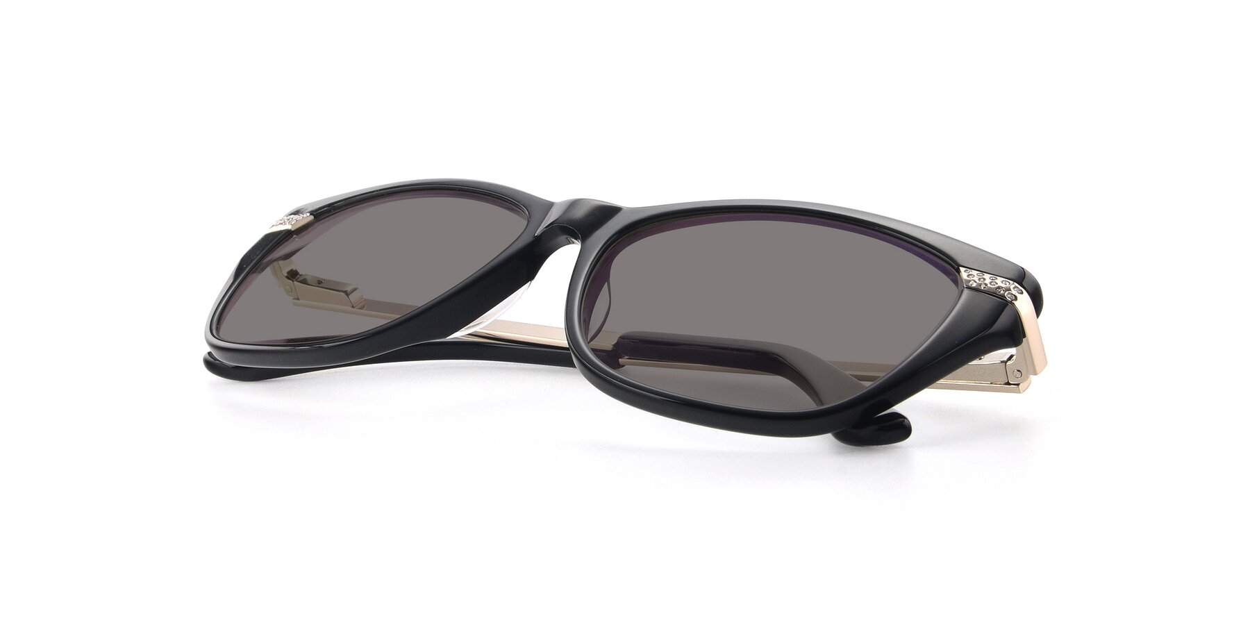 View of 17515 in Black with Medium Gray Tinted Lenses