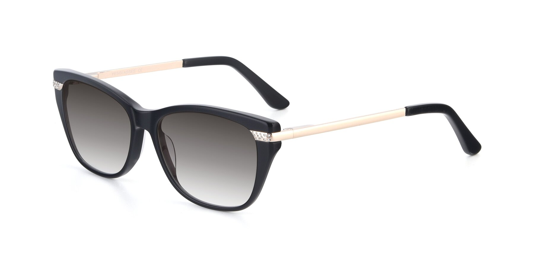 Angle of 17515 in Black with Gray Gradient Lenses