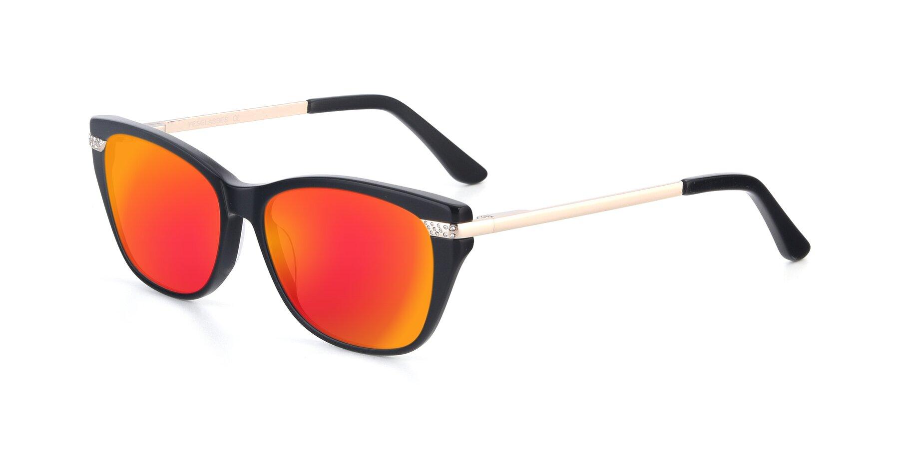 Angle of 17515 in Black with Red Gold Mirrored Lenses