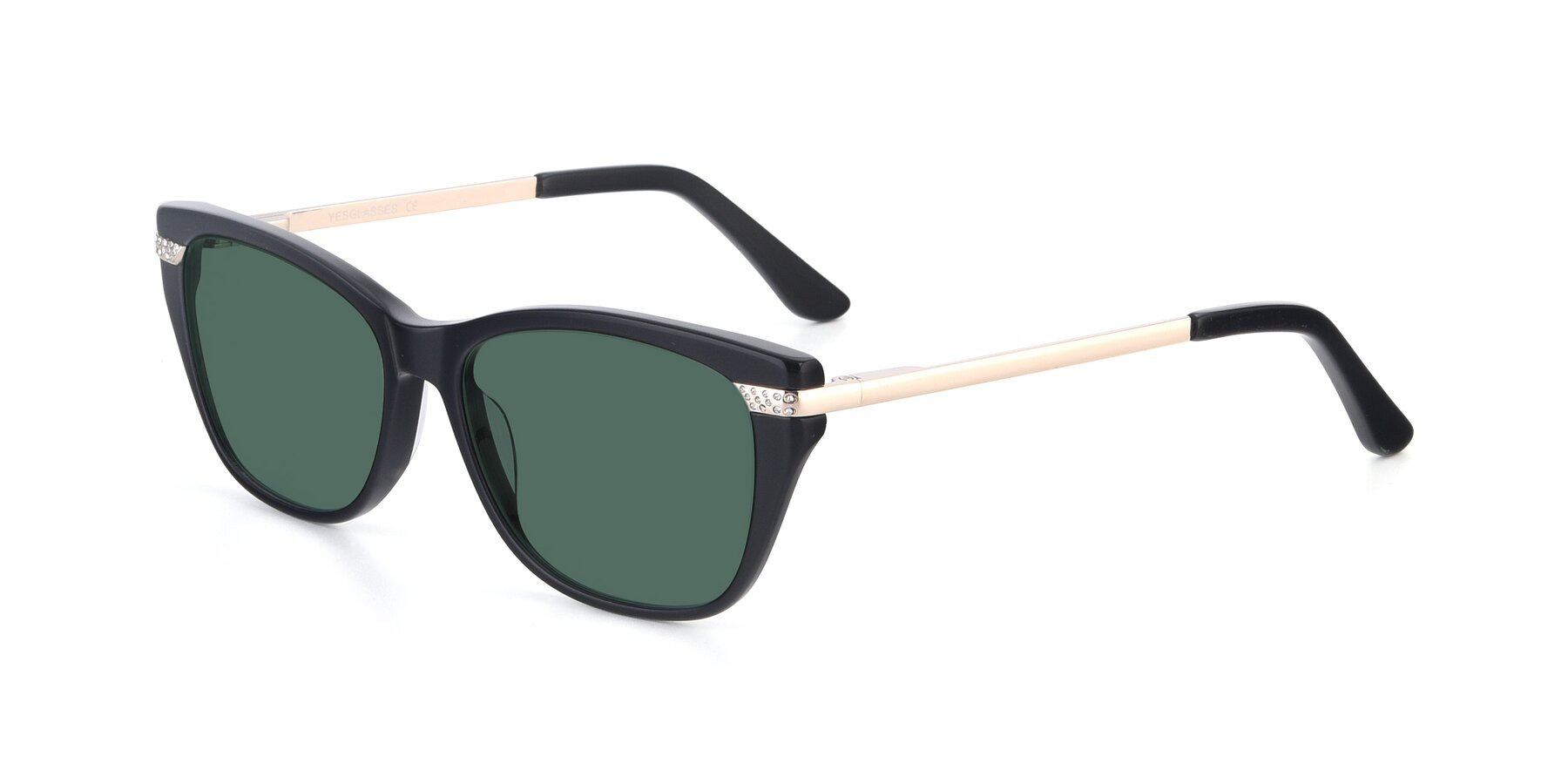 Angle of 17515 in Black with Green Polarized Lenses
