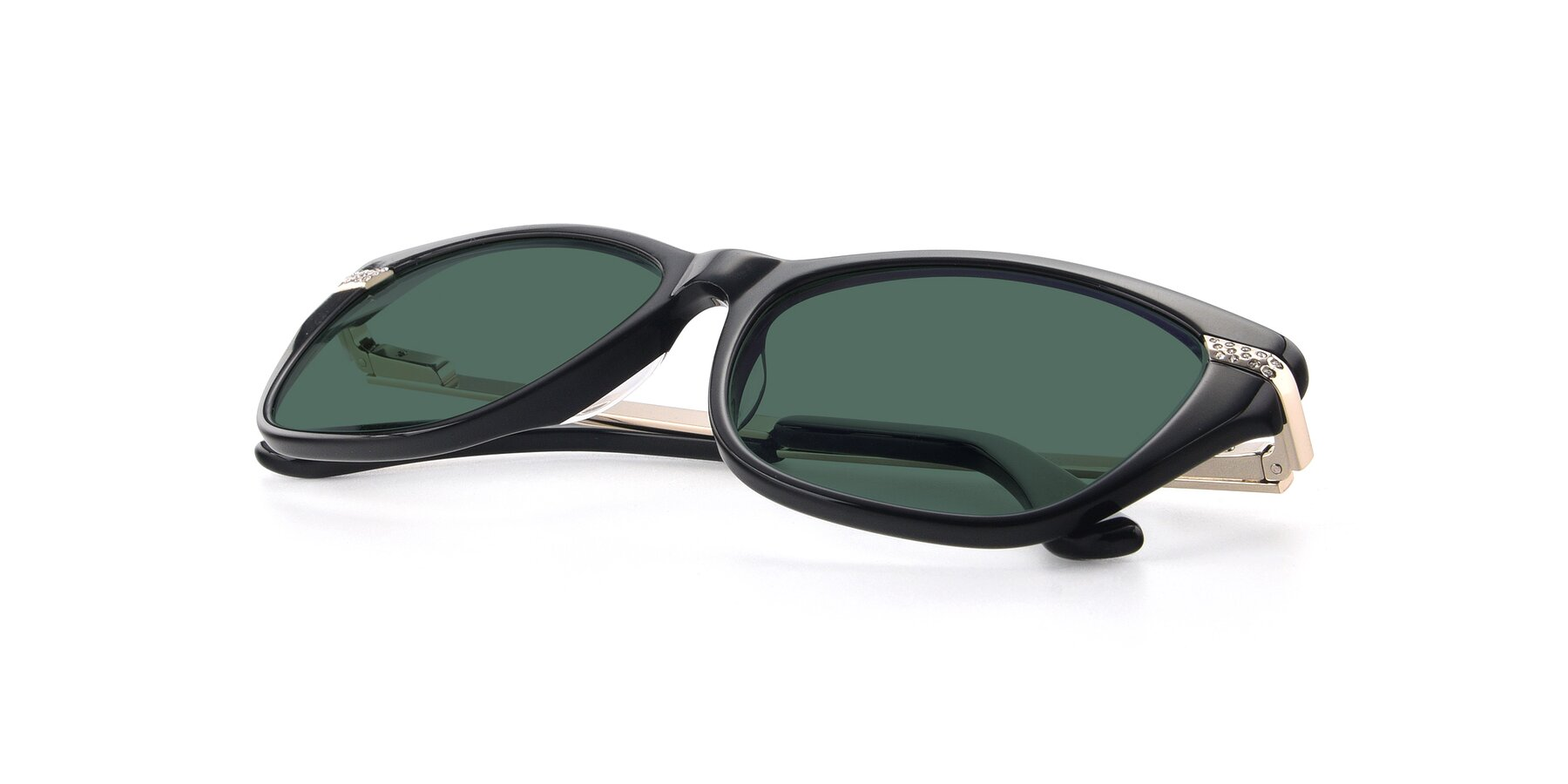 View of 17515 in Black with Green Polarized Lenses