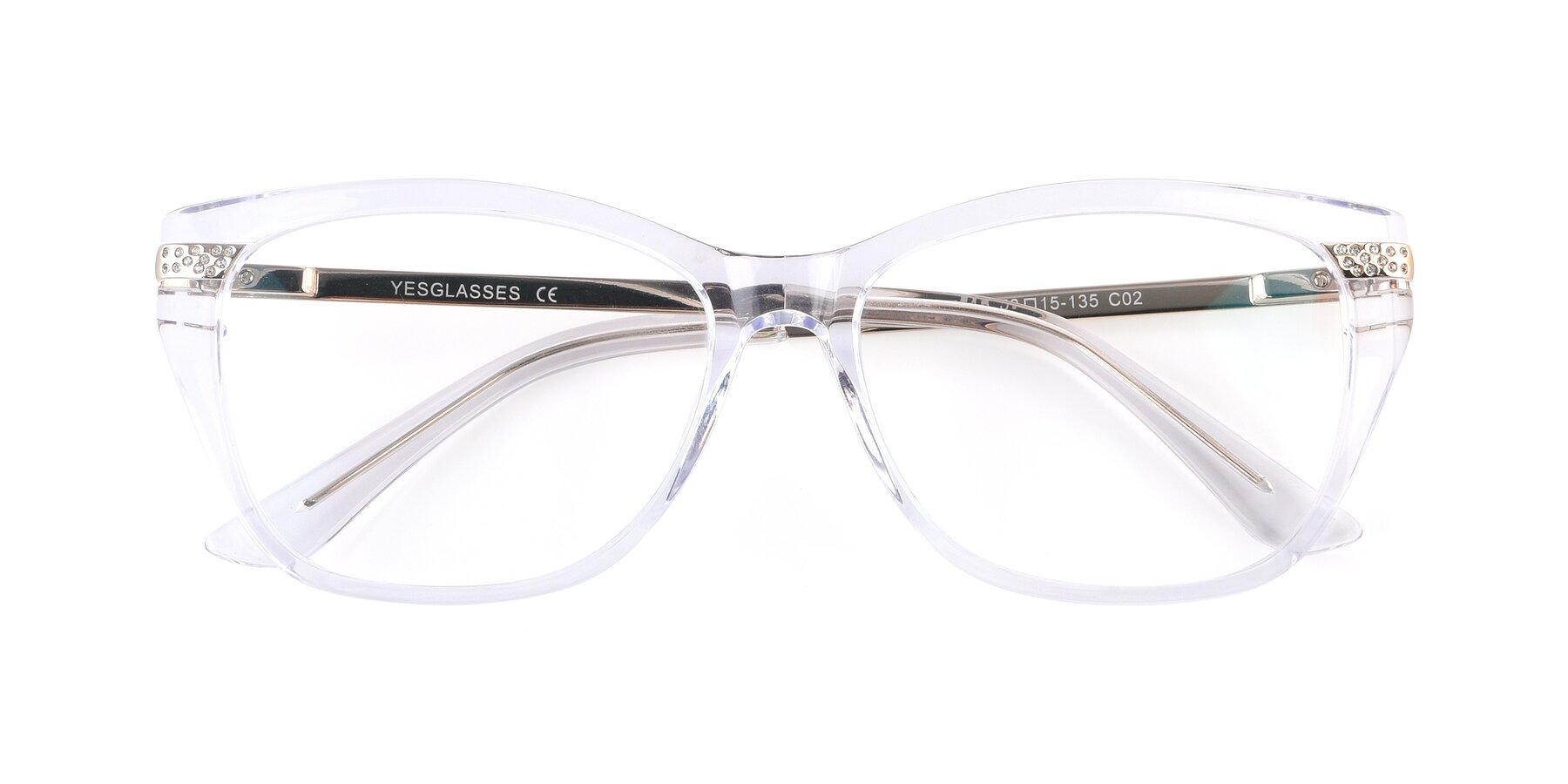 Folded Front of 17515 in Clear with Clear Eyeglass Lenses
