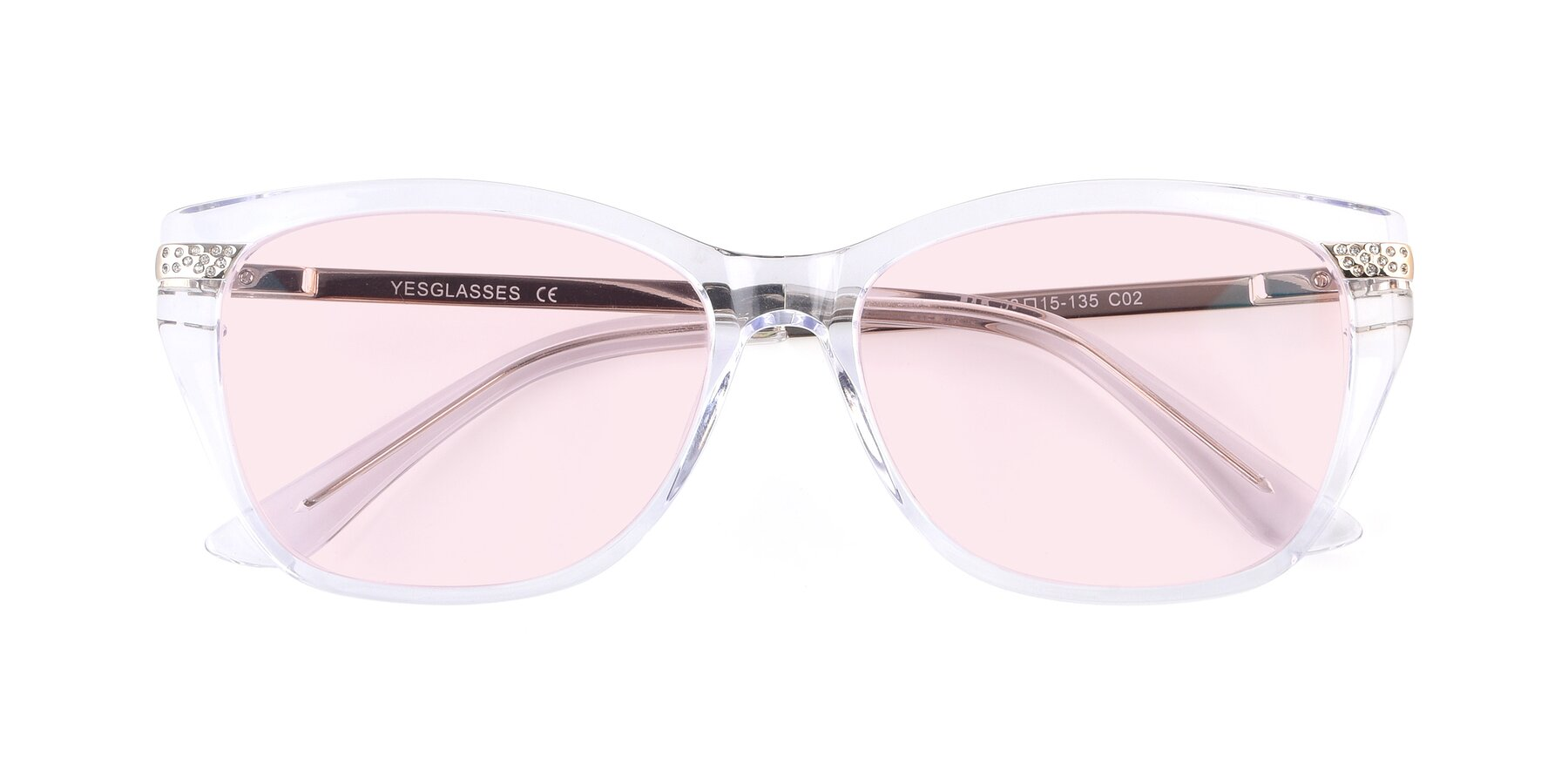 Folded Front of 17515 in Clear with Light Pink Tinted Lenses