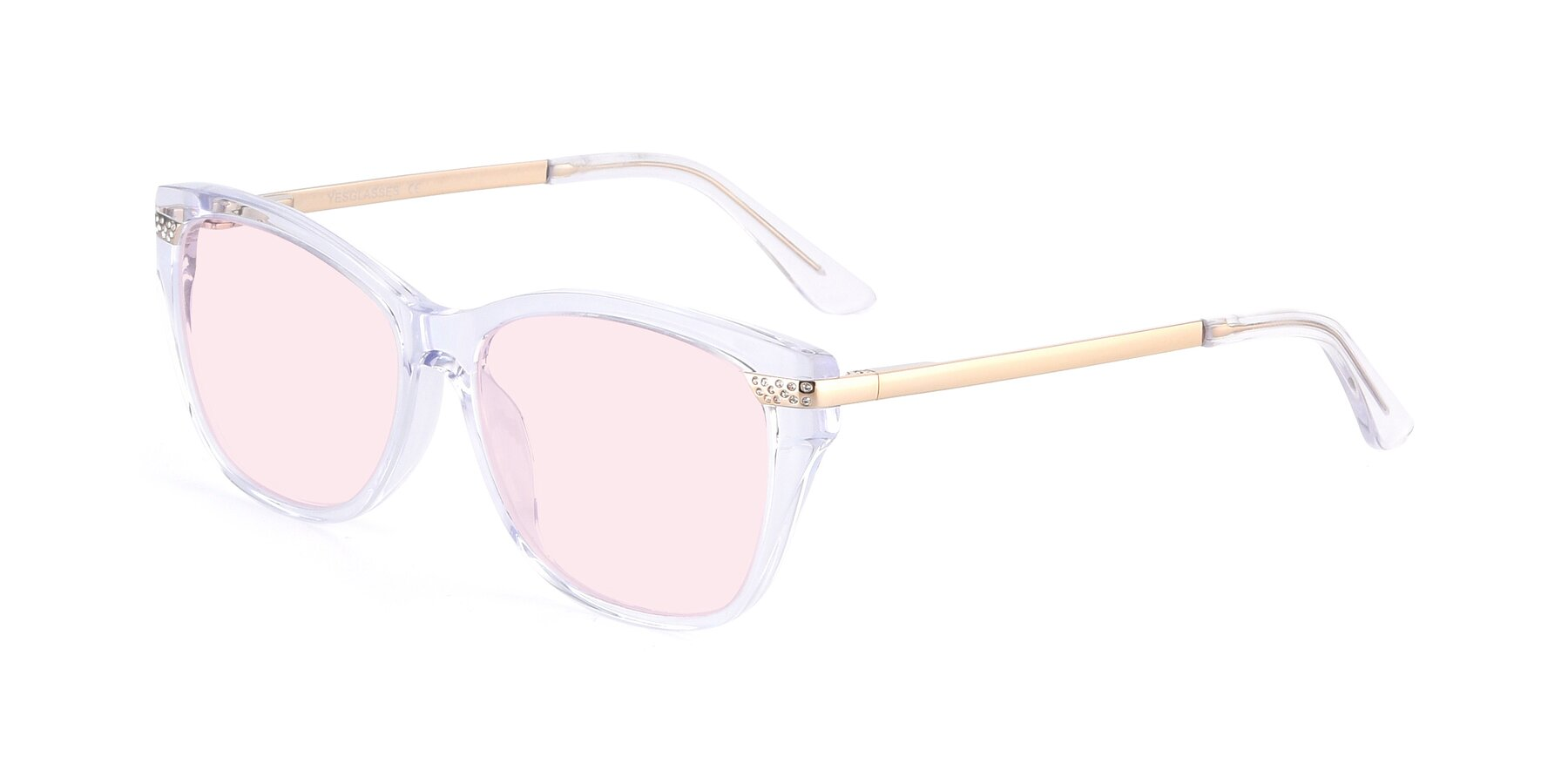 Angle of 17515 in Clear with Light Pink Tinted Lenses