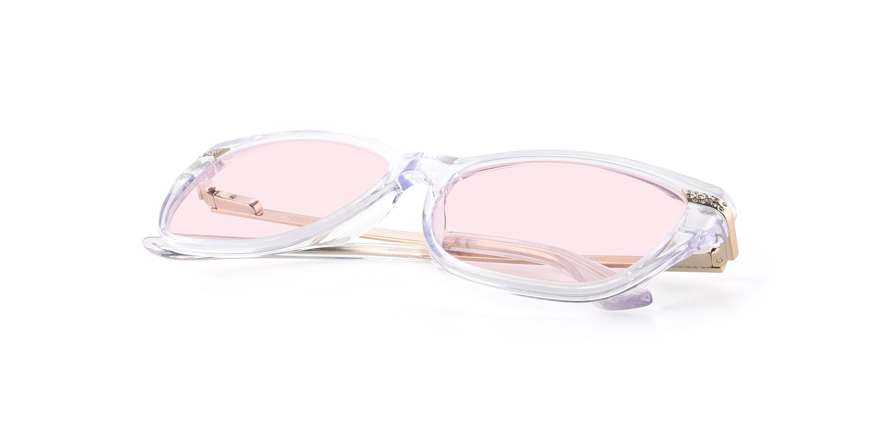 View of 17515 in Clear with Light Pink Tinted Lenses