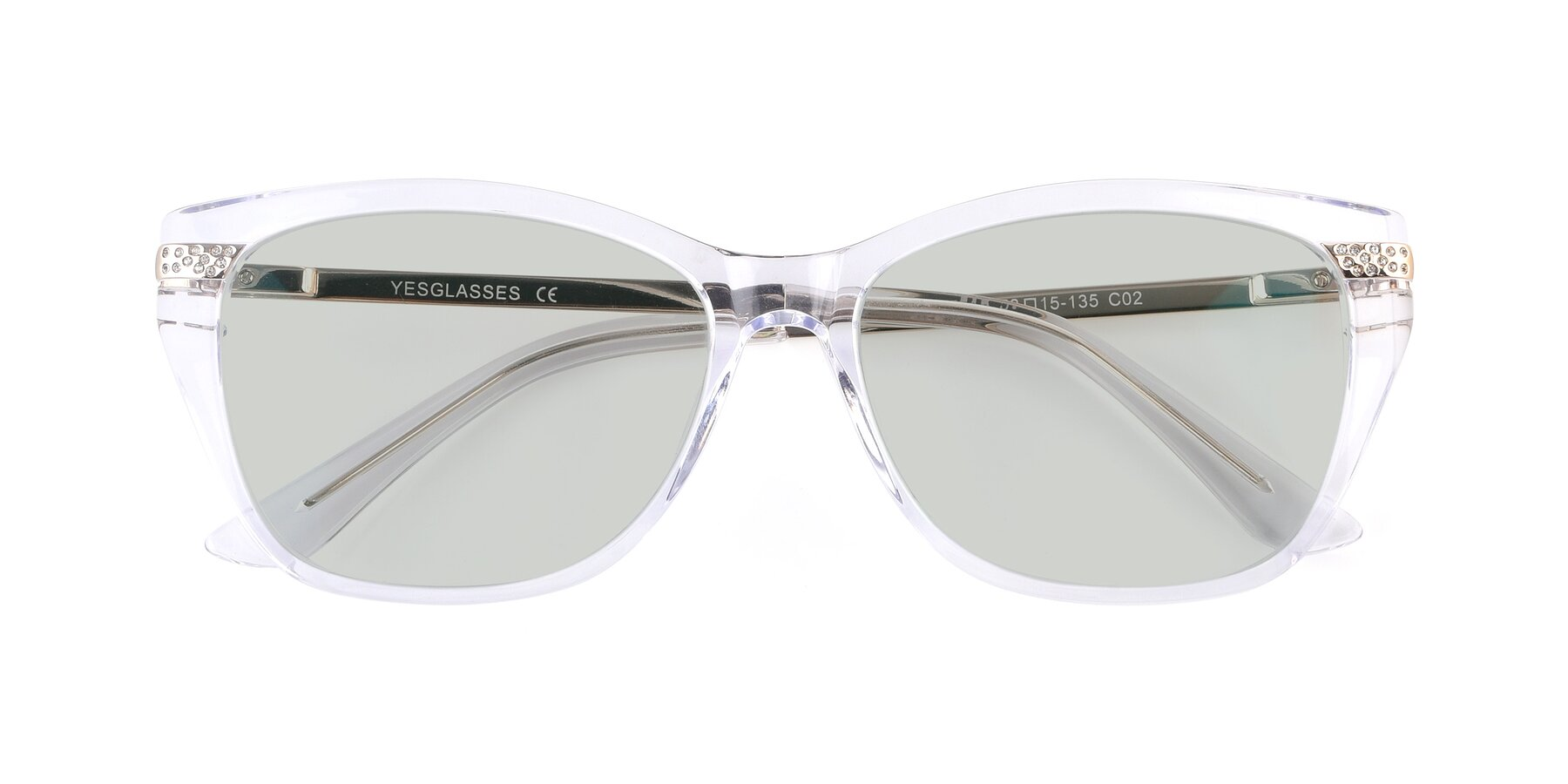 Folded Front of 17515 in Clear with Light Green Tinted Lenses