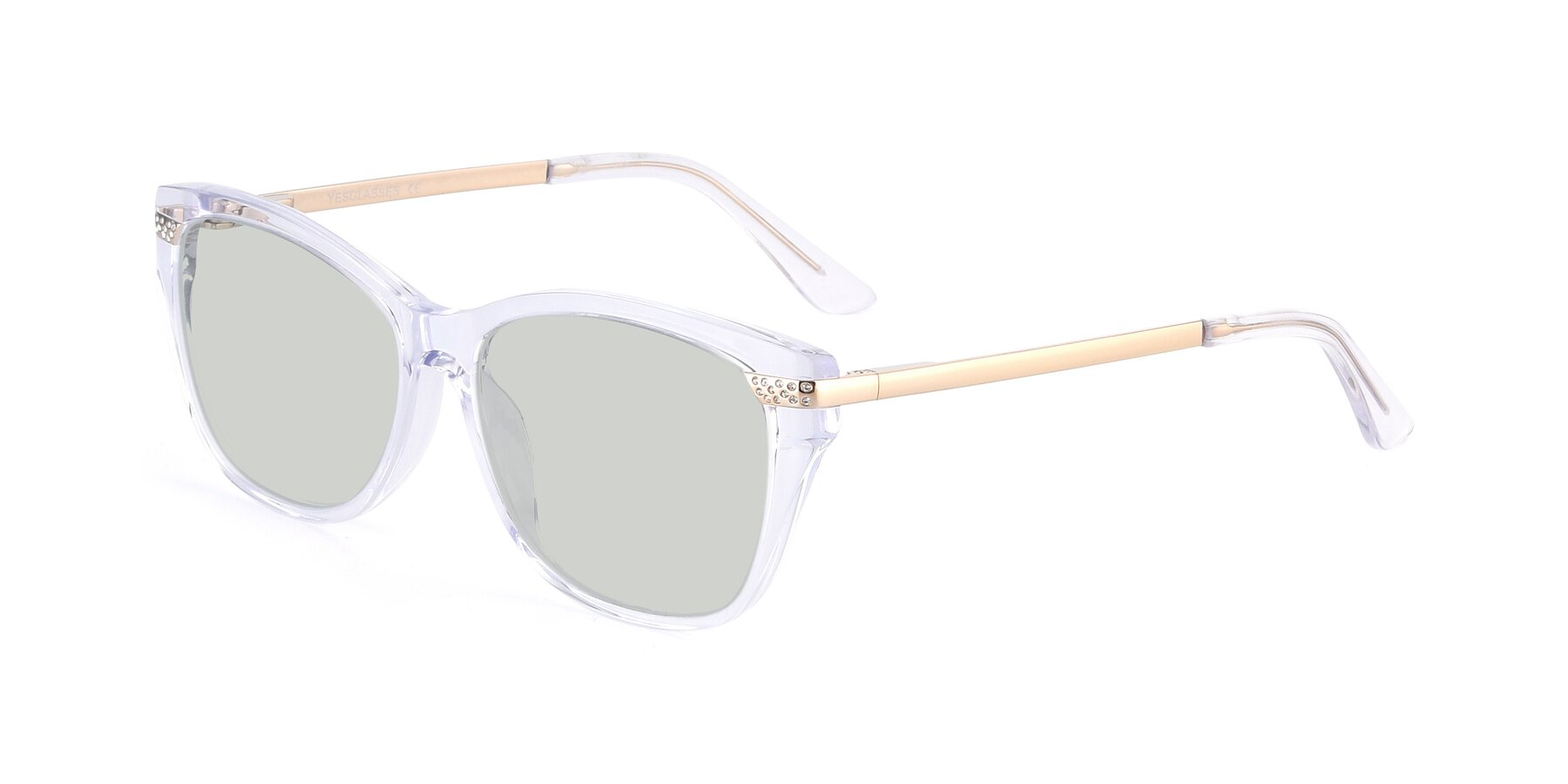 Angle of 17515 in Clear with Light Green Tinted Lenses
