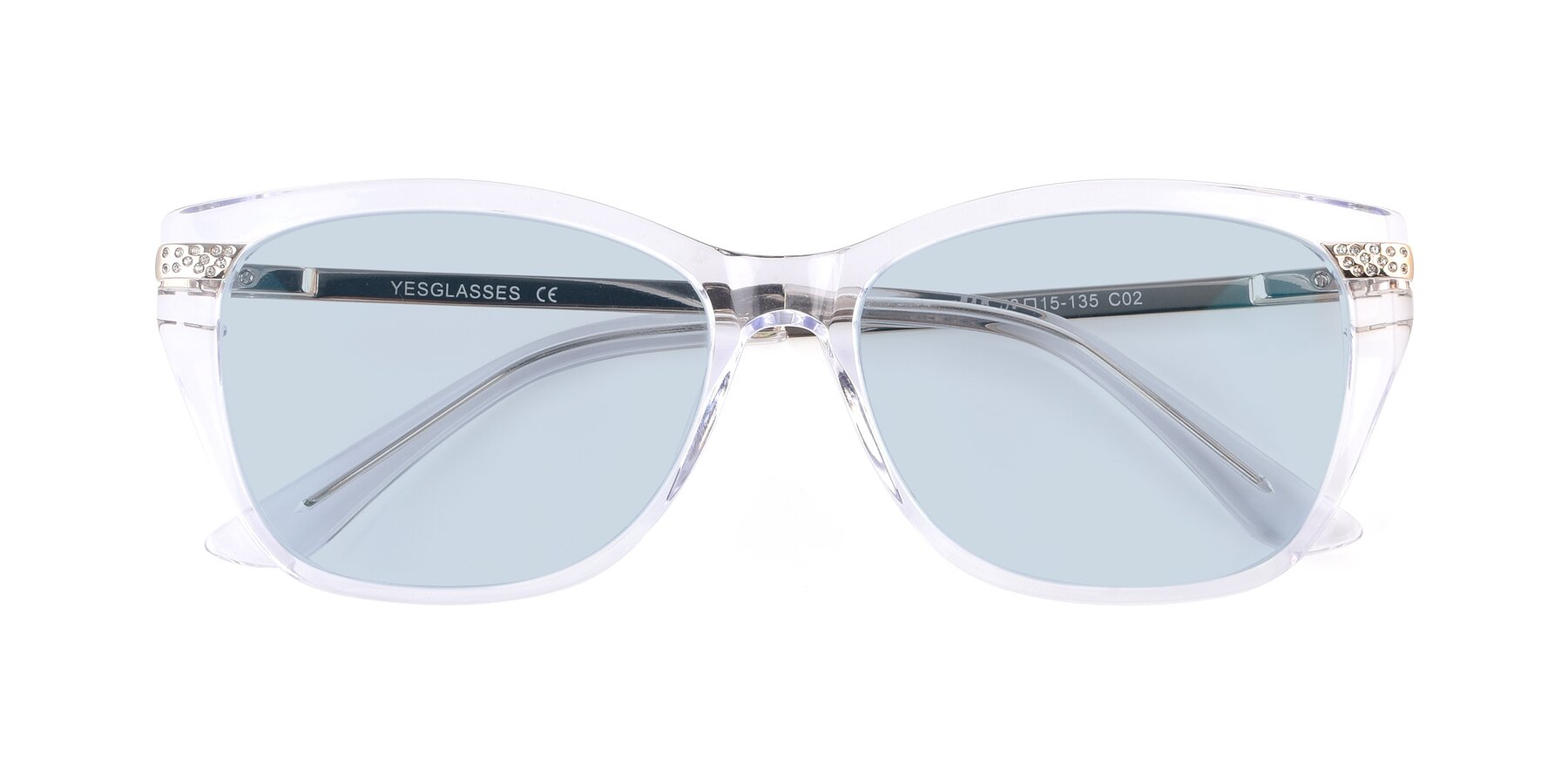 Folded Front of 17515 in Clear with Light Blue Tinted Lenses