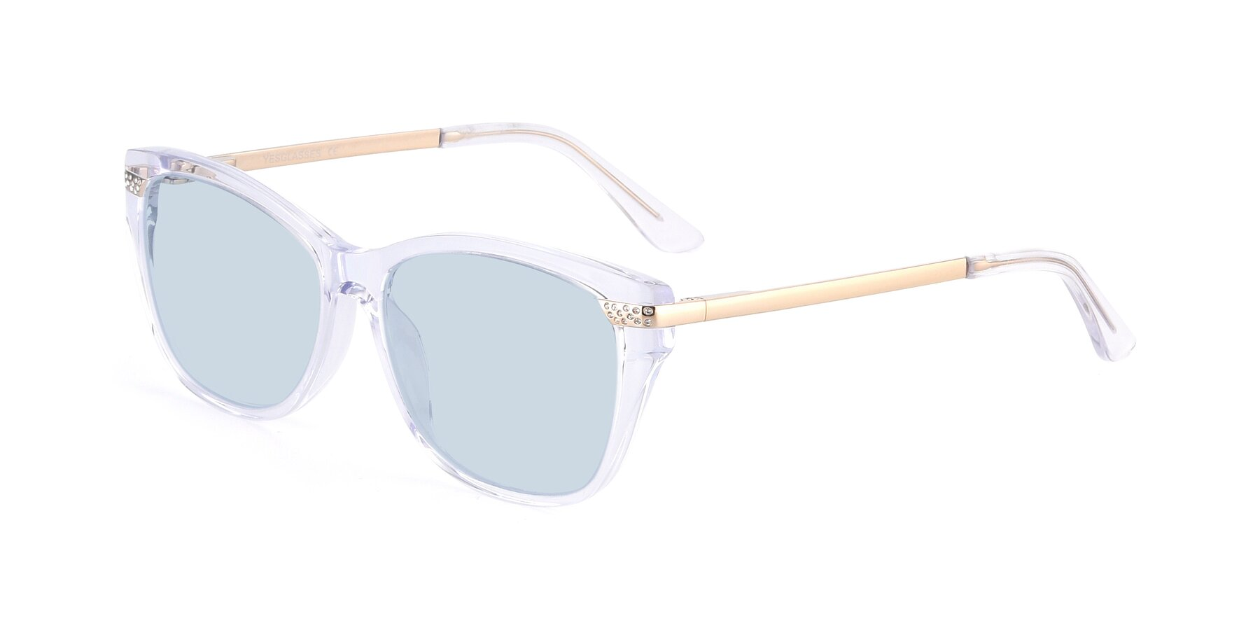 Angle of 17515 in Clear with Light Blue Tinted Lenses
