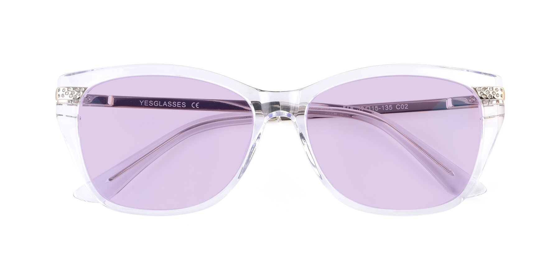 Folded Front of 17515 in Clear with Light Purple Tinted Lenses