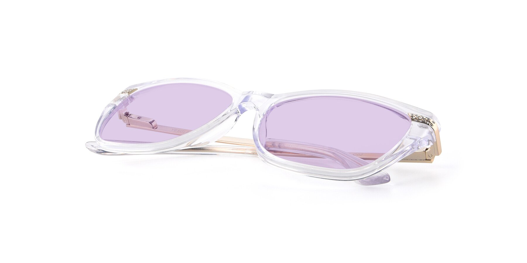 View of 17515 in Clear with Light Purple Tinted Lenses