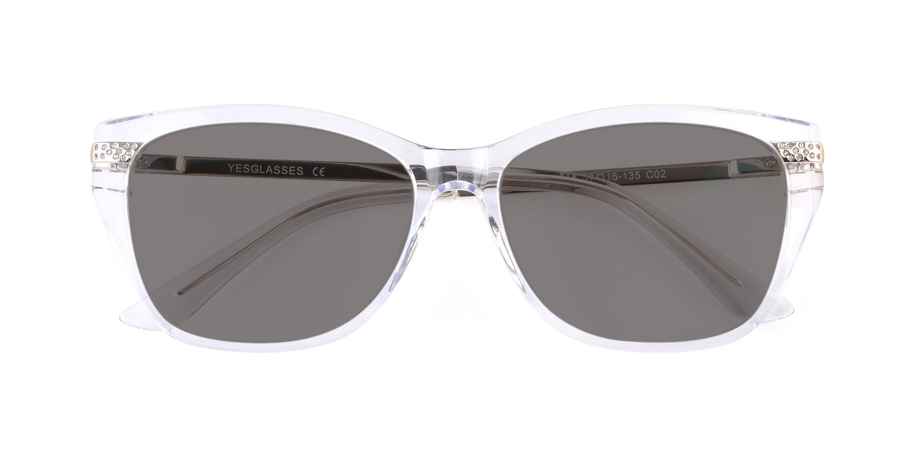 Folded Front of 17515 in Clear with Medium Gray Tinted Lenses
