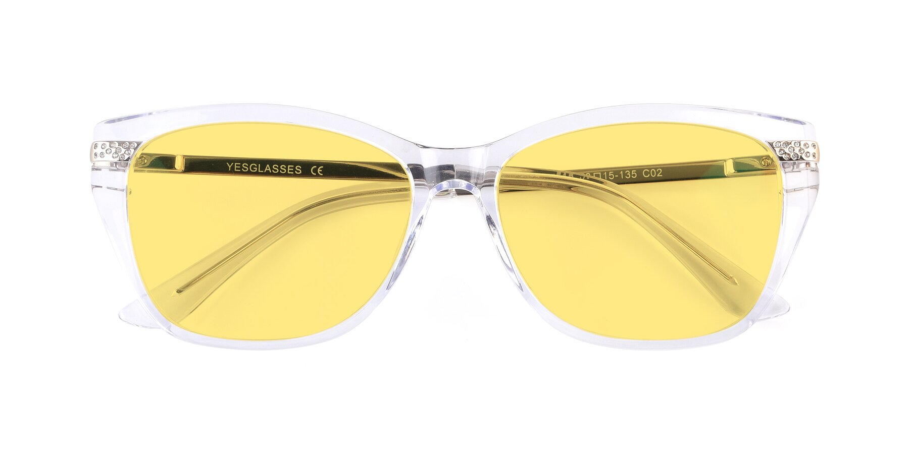Folded Front of 17515 in Clear with Medium Yellow Tinted Lenses